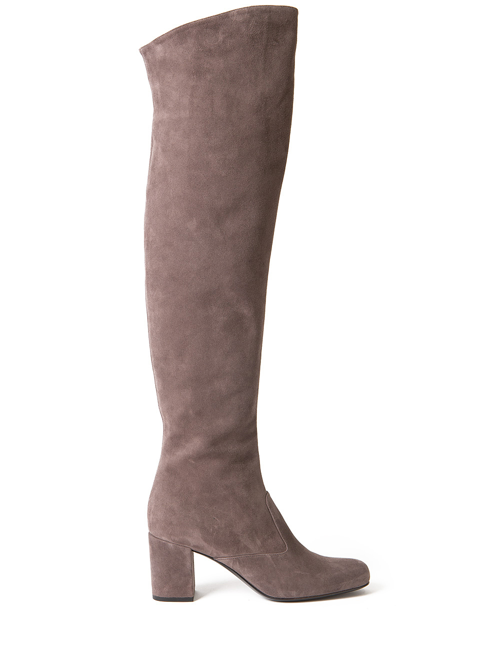 9caa3d430e4 Saint Laurent Babies Over The Knee Boots in Brown - Lyst