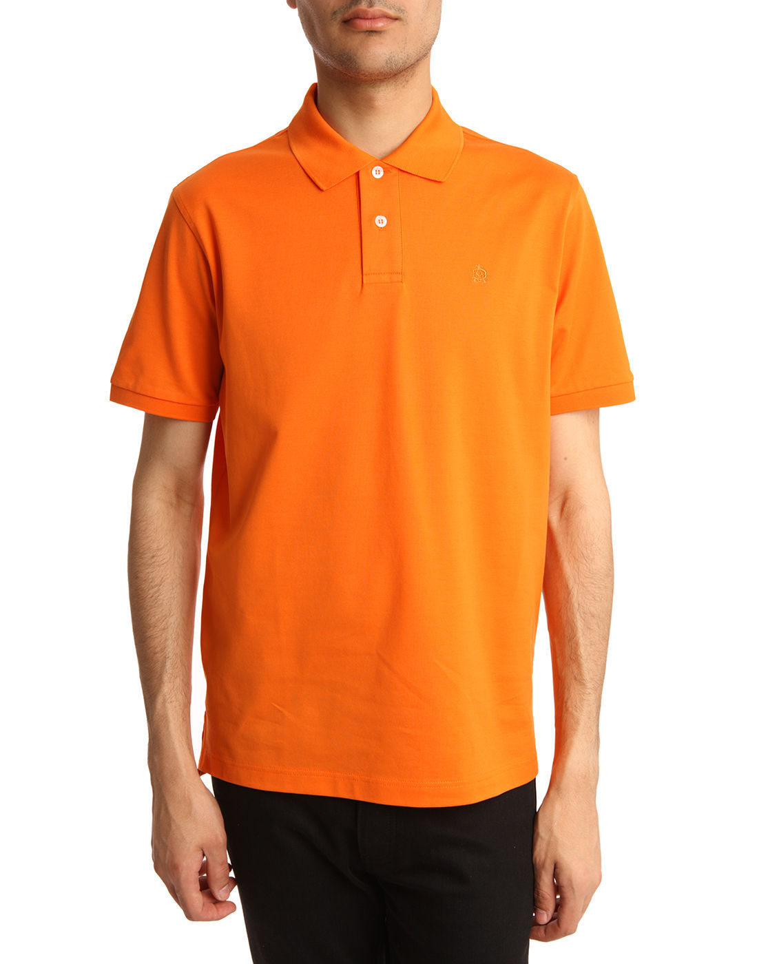dunhill neon orange polo shirt in orange for men lyst