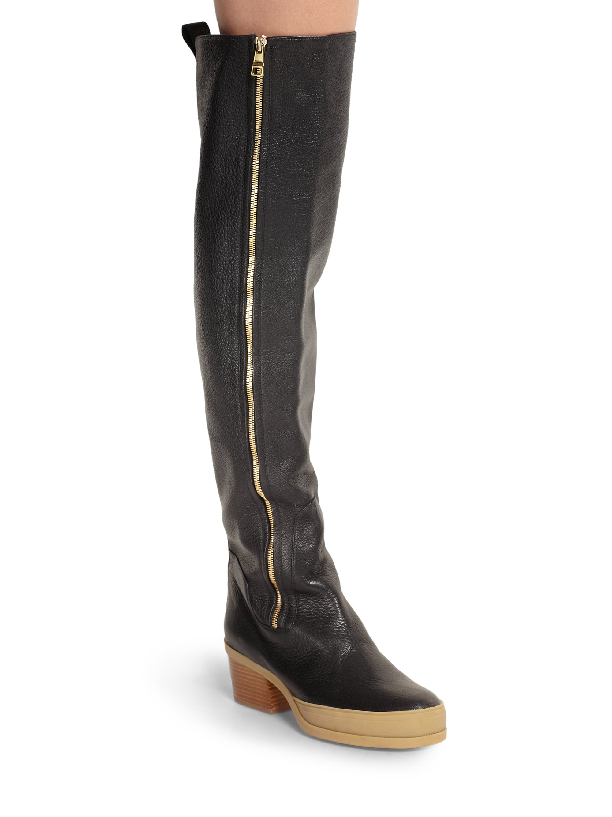 Leather over-the-knee boots Chlo X4t9yi3w