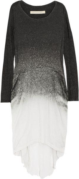 Raquel Allegra Laddered Tiedye Cottonblend Jersey Dress In