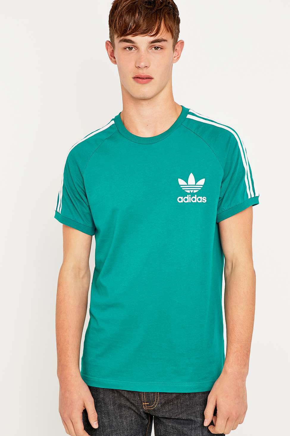 outlet store ccd5d ba6ed adidas Originals California Tee in Green for Men - Lyst