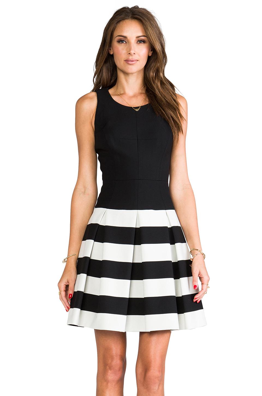 Lyst Milly Stretch Doubleweave Dropwaist Pleated Skirt
