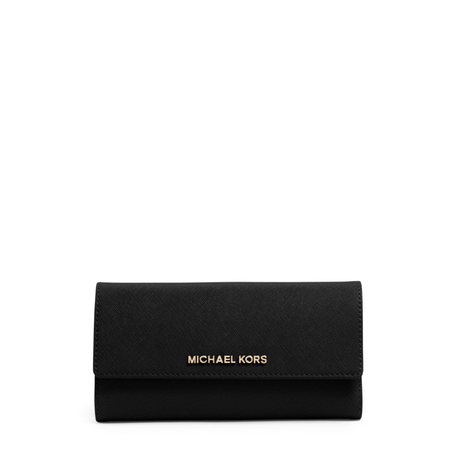 b63b6b693307 Michael Kors Jet Set Travel Saffiano Leather Checkbook Wallet in ...