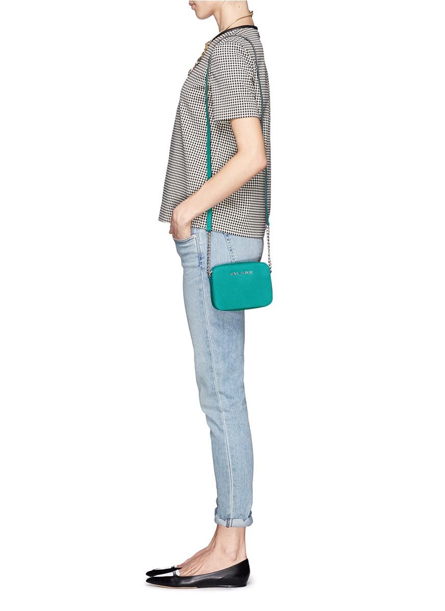 bd33d480ce17 Michael Kors 'jet Set Travel' Petite Saffiano Leather Crossbody Bag ...