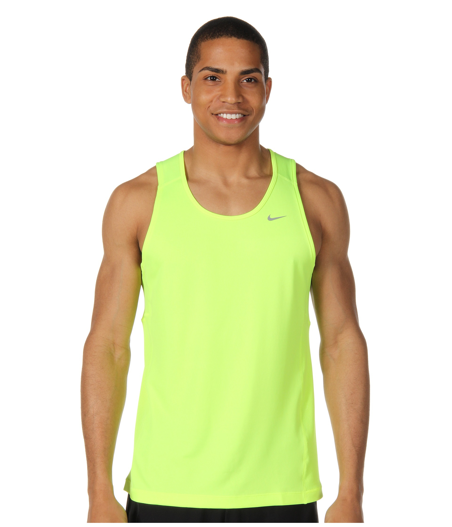 95df513347b8 Lyst - Nike Miler Singlet (team) in Green for Men