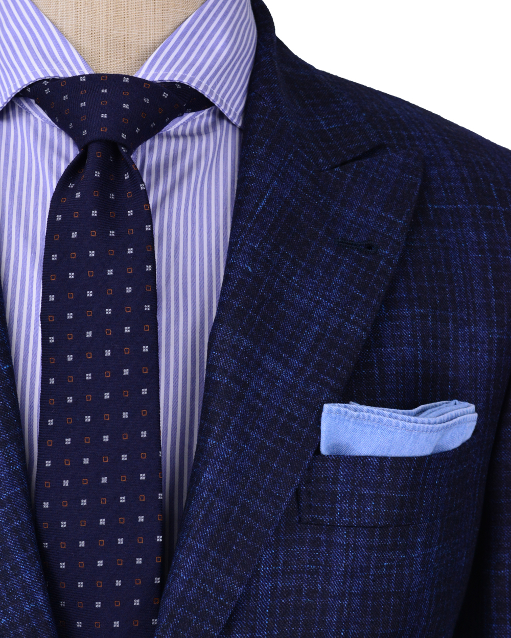Brunello cucinelli Dark Blue and Navy Plaid Suit in Blue for Men ...