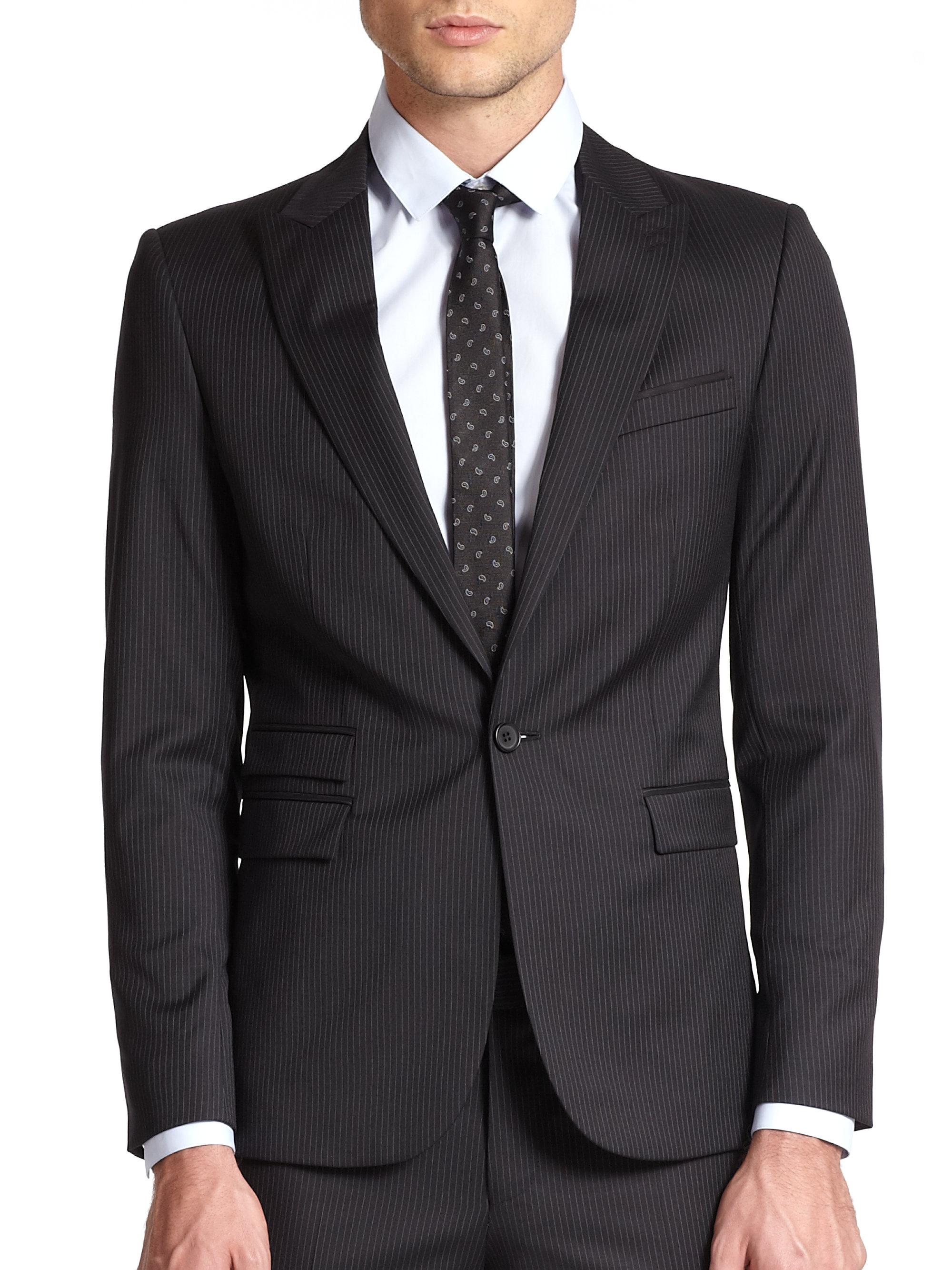 4c5226340c The Kooples Wool Pinstripe Suit Jacket in Black for Men - Lyst