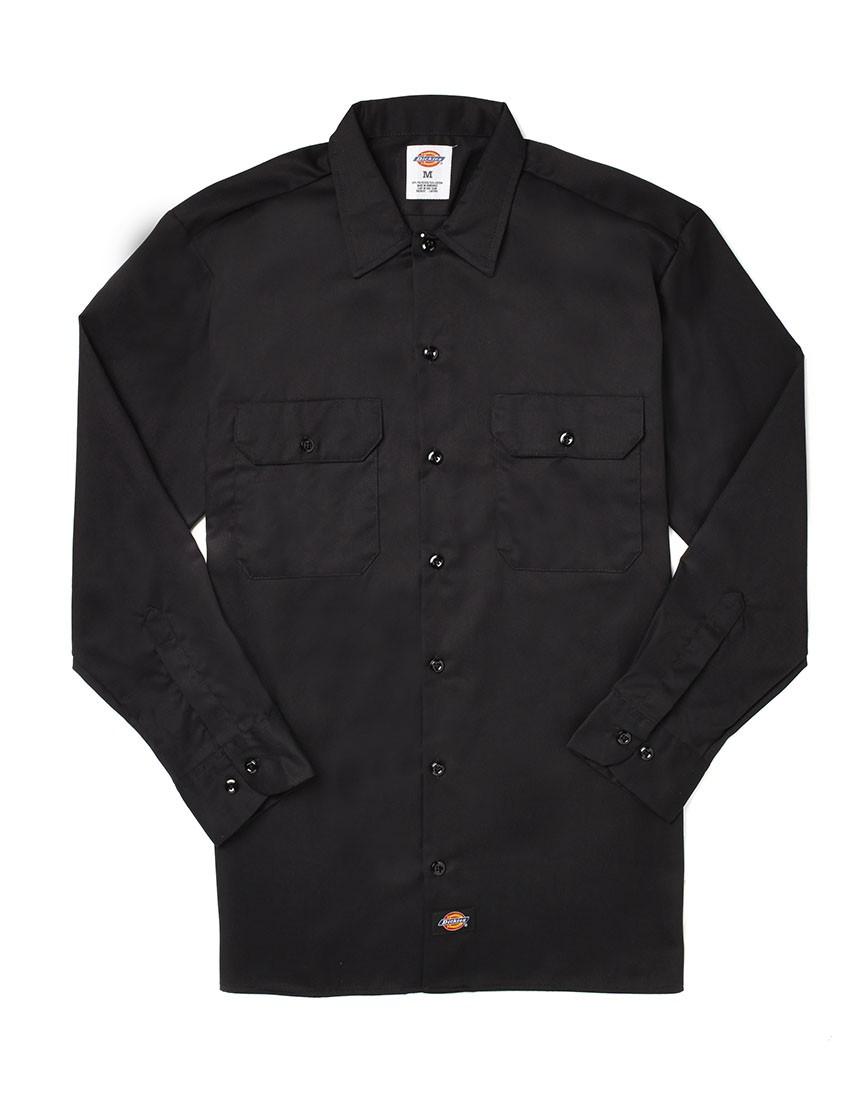 Lyst Dickies Long Sleeve Work Shirt In Black For Men