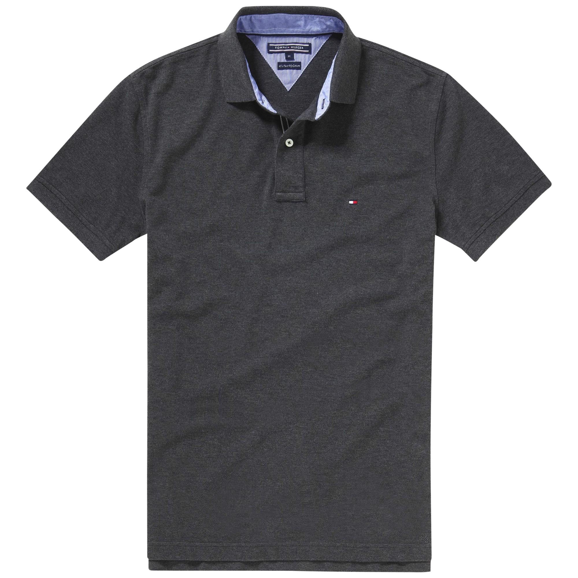 tommy hilfiger knit regular fit polo shirt in gray for men lyst. Black Bedroom Furniture Sets. Home Design Ideas