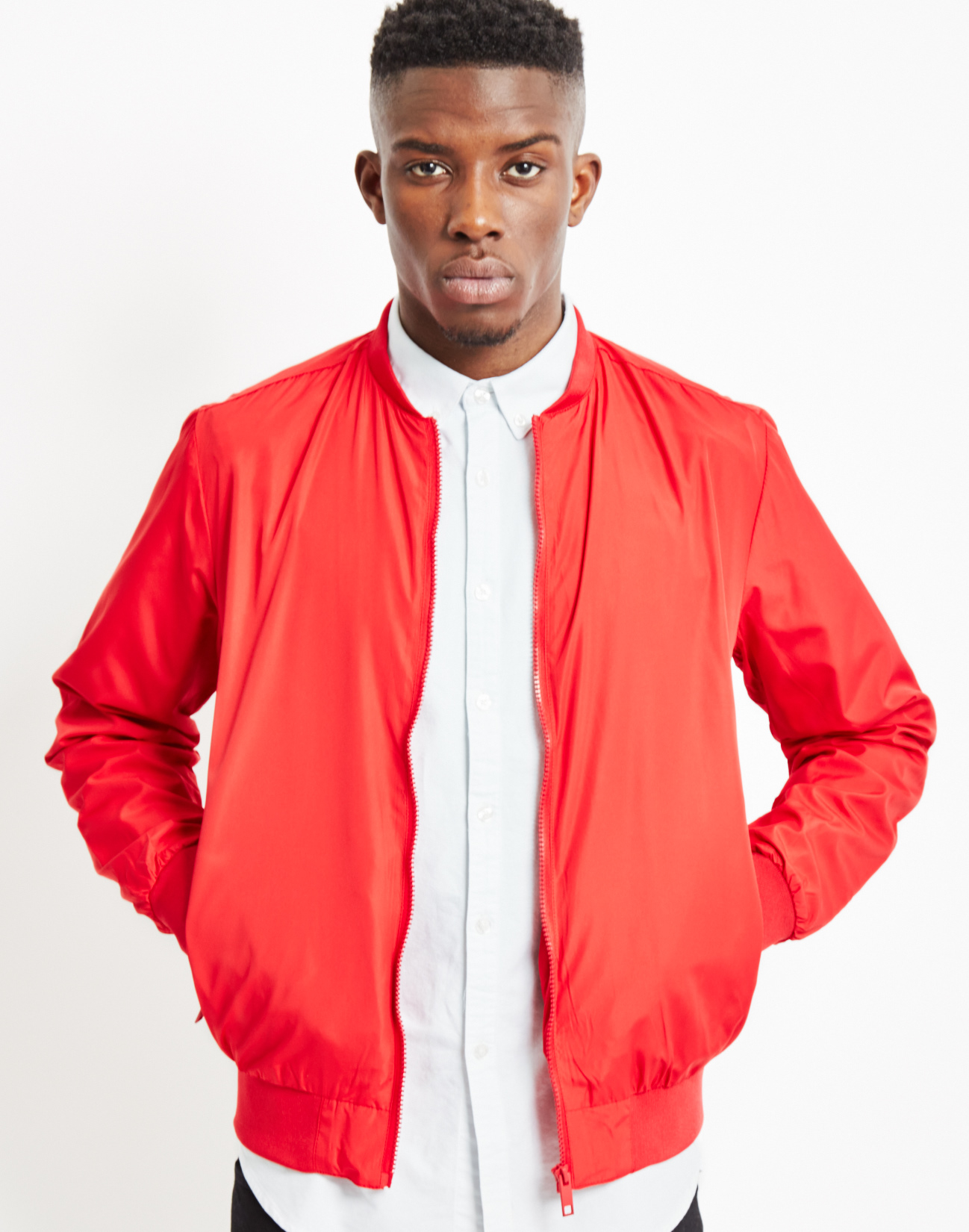 Mens Red Bomber Jacket - Jacket To