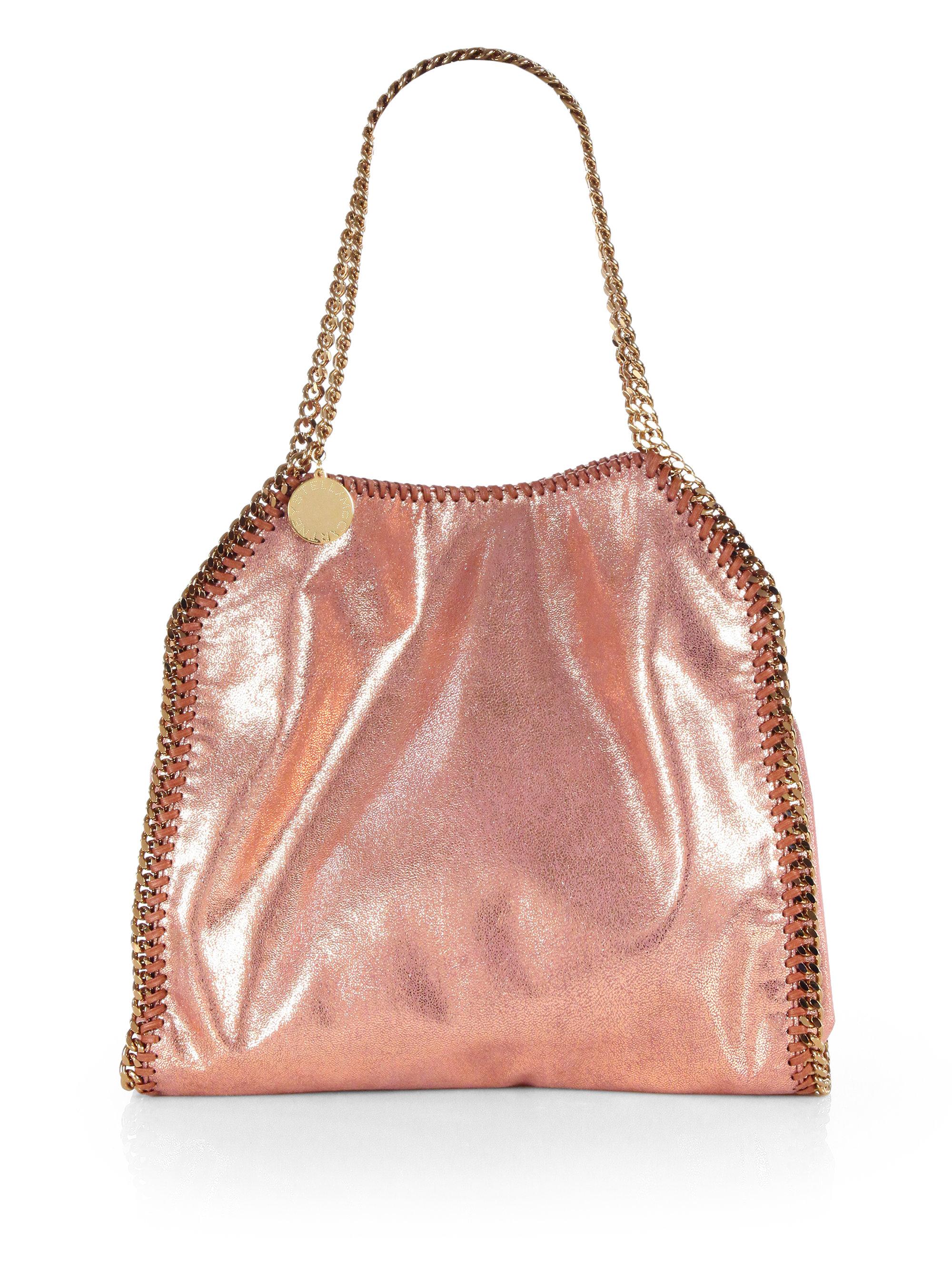 lyst stella mccartney baby bella metallic shoulder bag in brown. Black Bedroom Furniture Sets. Home Design Ideas