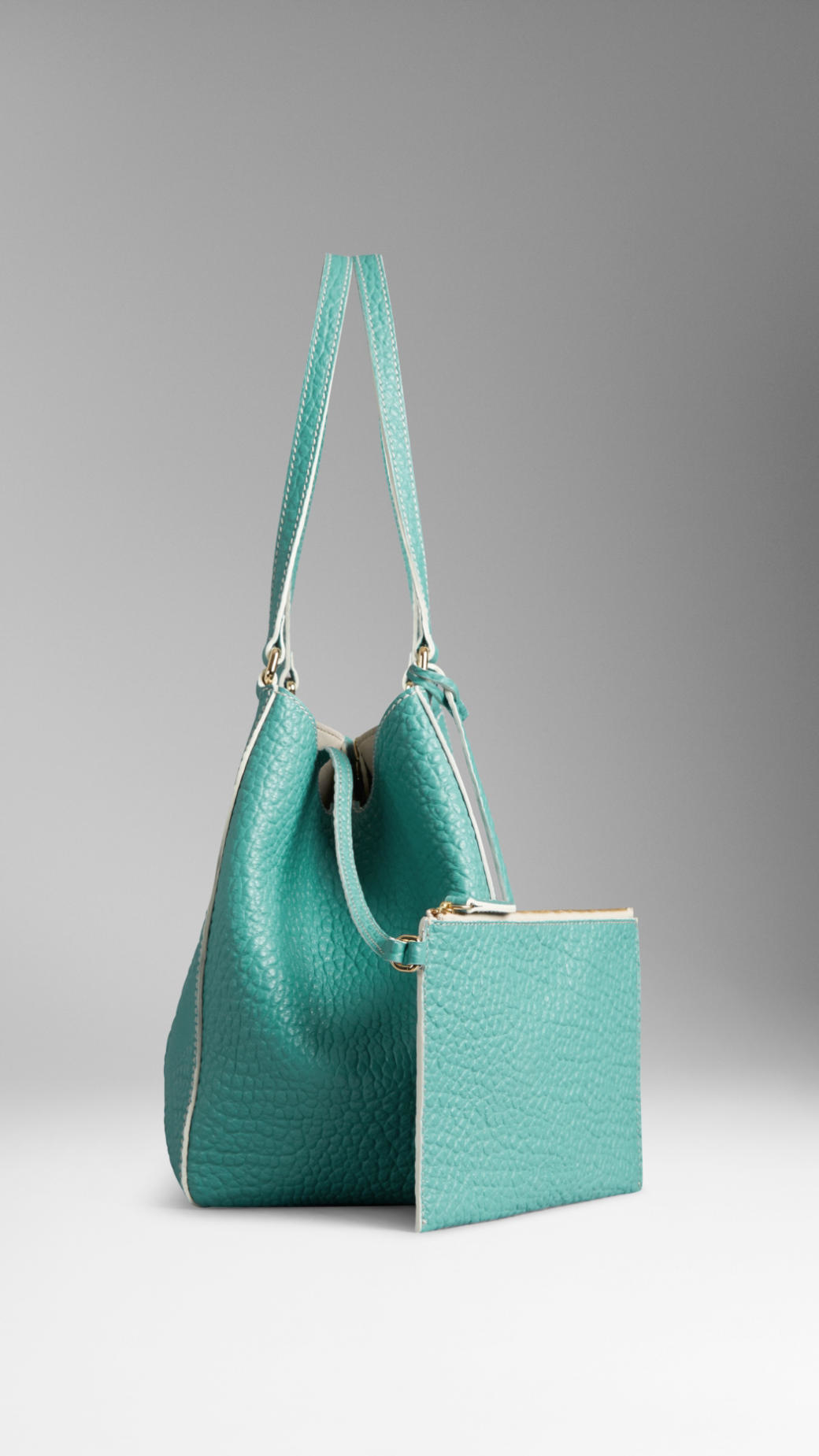 8718c2261d7e Lyst - Burberry Small Canter Grained-Leather Tote in Blue