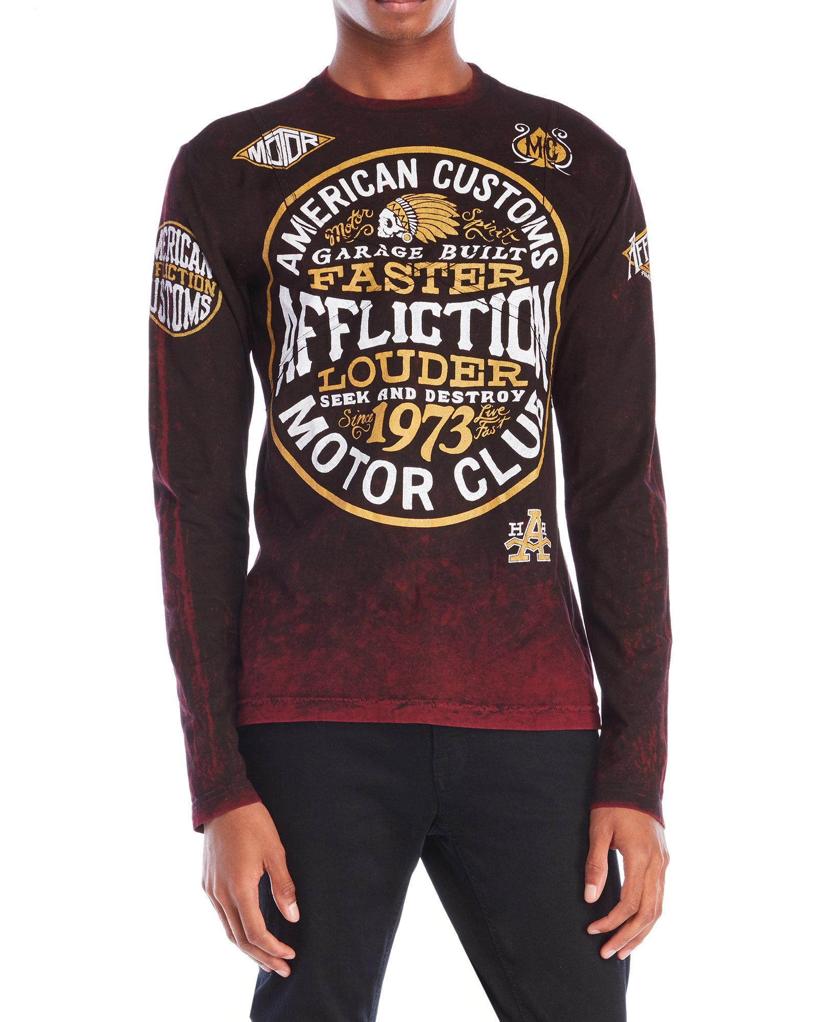 Lyst - Affliction American Customs Long Sleeve Tee for Men