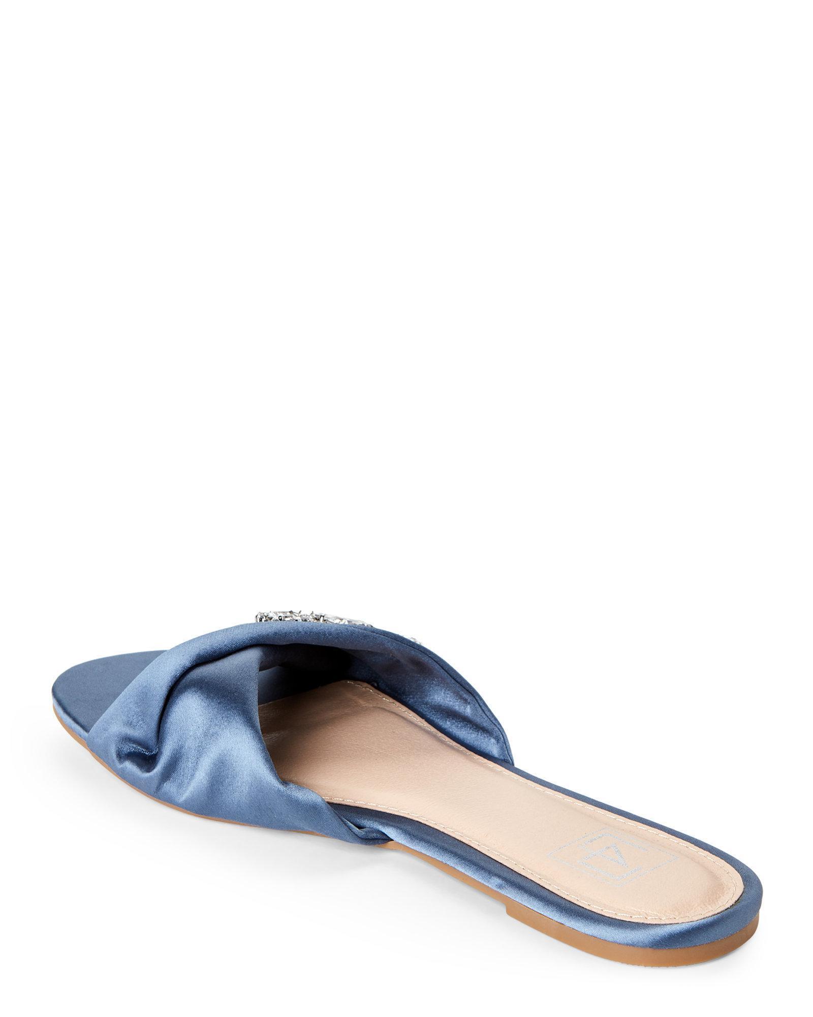 d769ec69e13482 Lyst - Lust For Life Blue Saber Brooch Slide Sandals in Blue