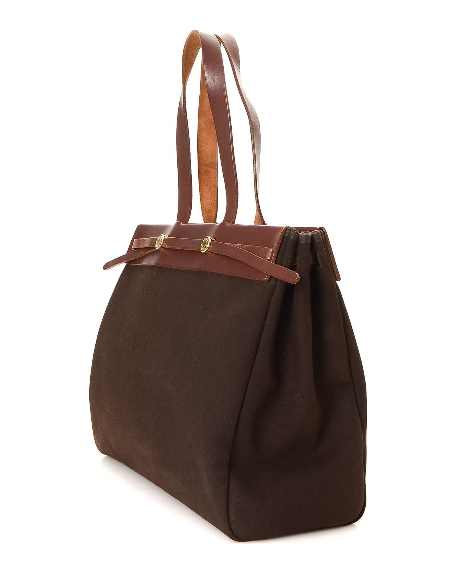 09c411da0634 Lyst - Hermès Tote - Vintage in Brown