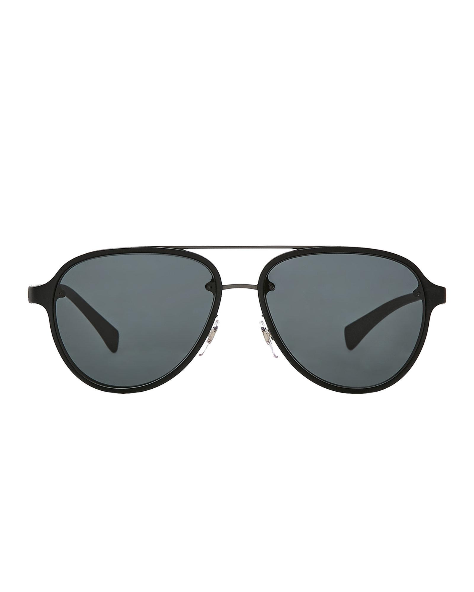 18e7c39f30e1b Prada Sport Sps 52s Black Aviator Sunglasses in Black for Men - Lyst