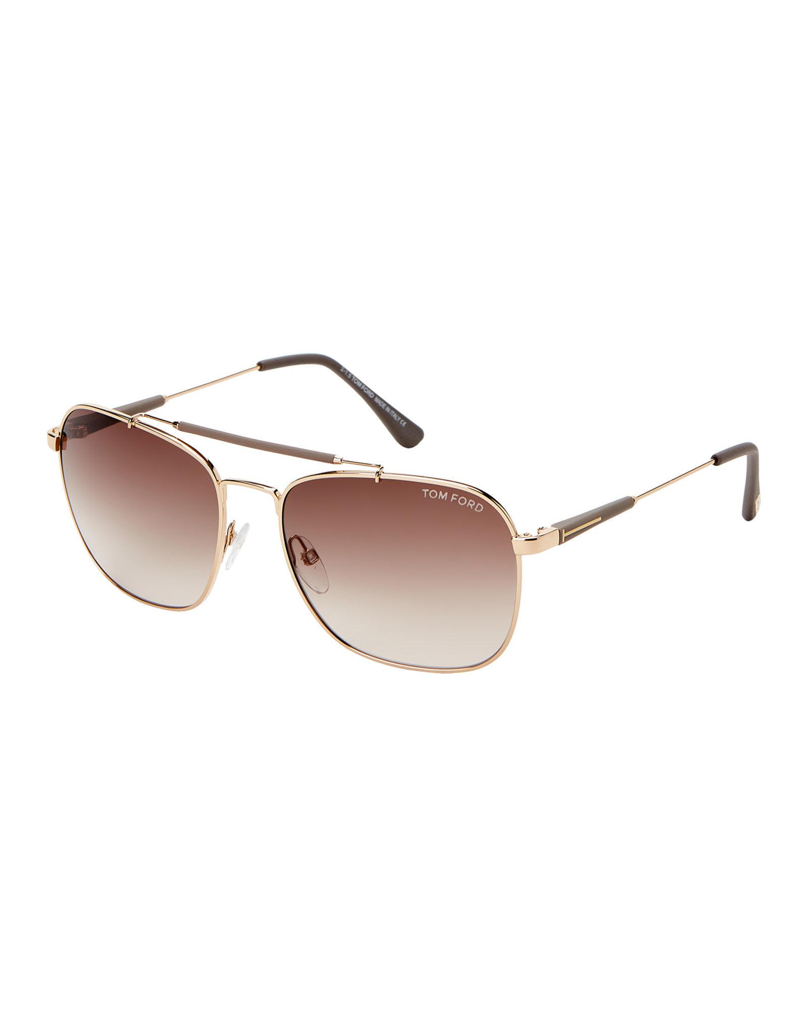 3e054f642 Lyst - Tom Ford Tf377 Gold-tone Edward Navigator Sunglasses for Men