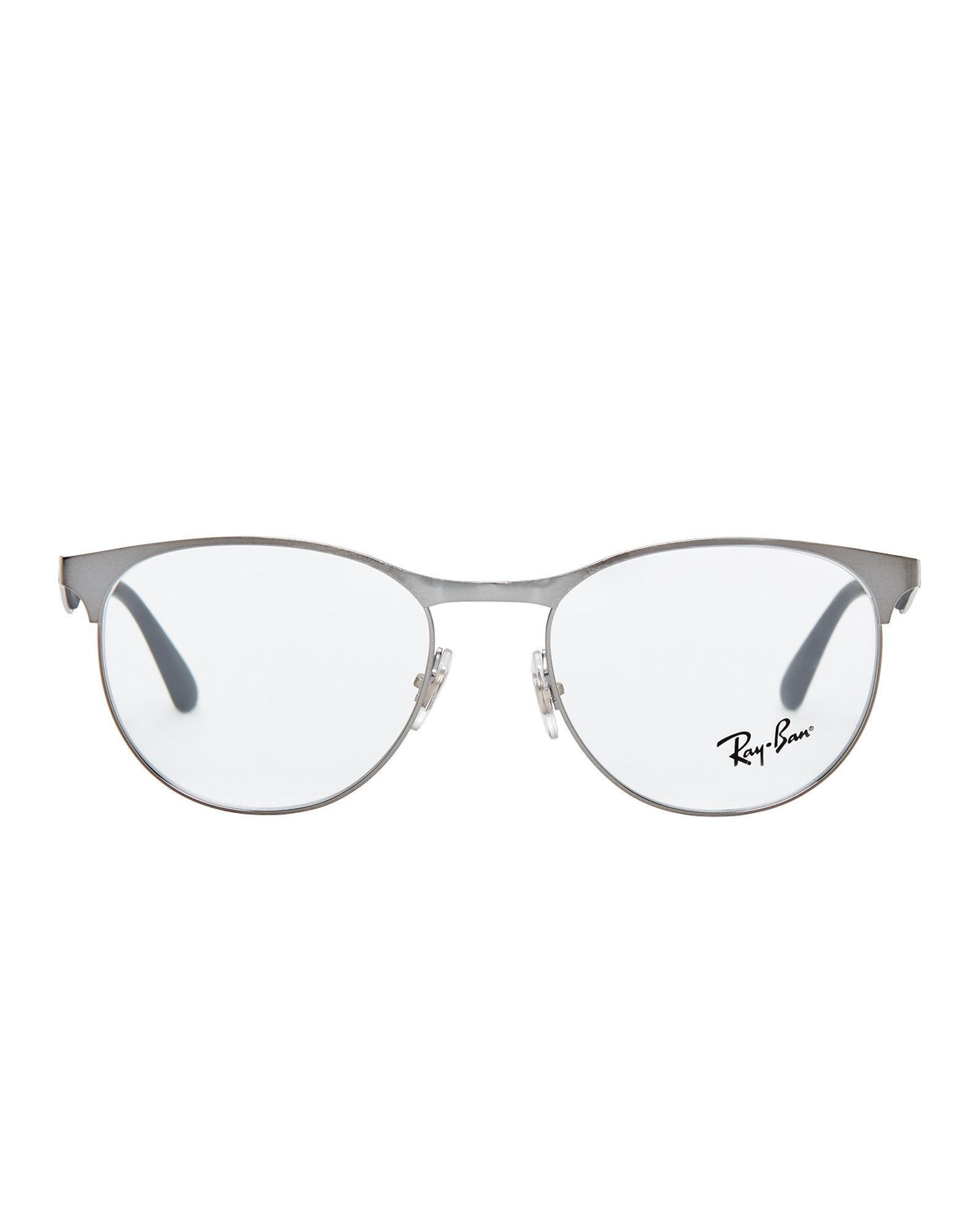 Lyst - Ray-Ban Rb 6365 Ruthenium-tone Semi-rimless Optical Frames