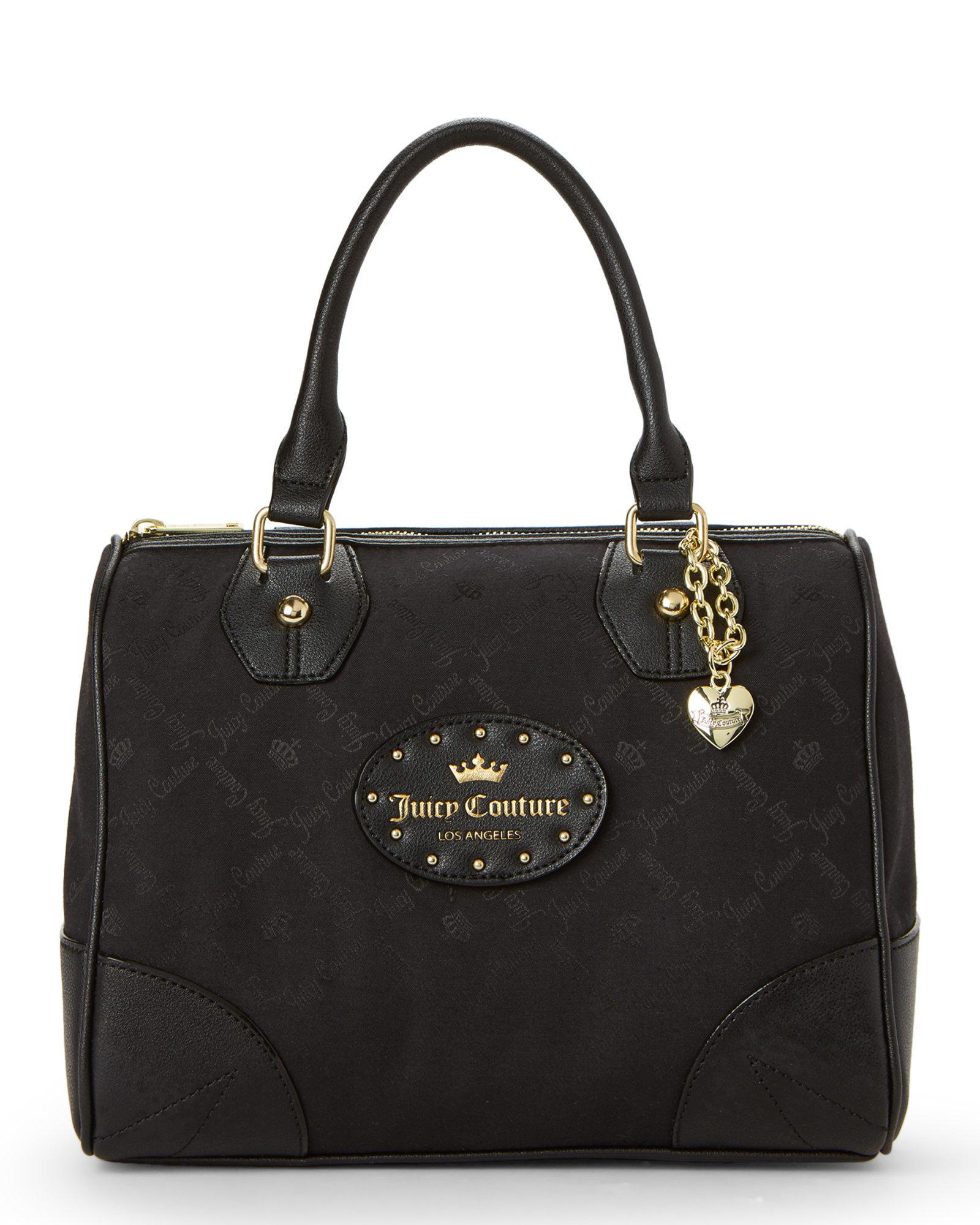 3708ff4fc Juicy Couture Black Yours Truly Satchel in Black - Lyst