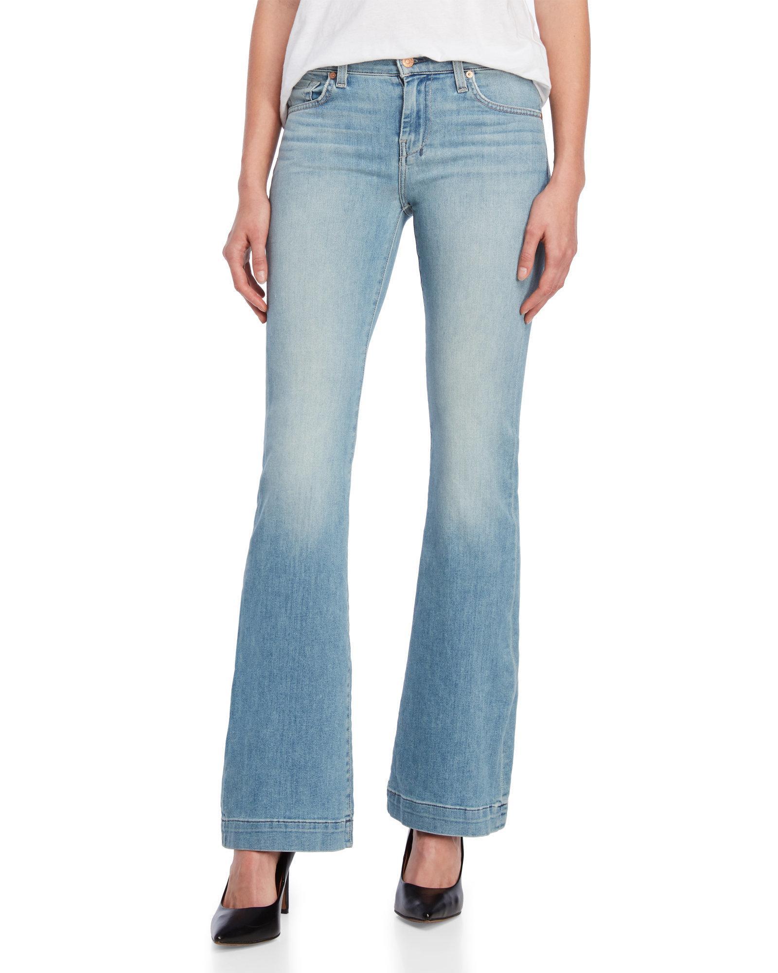 d26132db26 Lyst - 7 For All Mankind Dojo Wide Leg Jeans in Blue