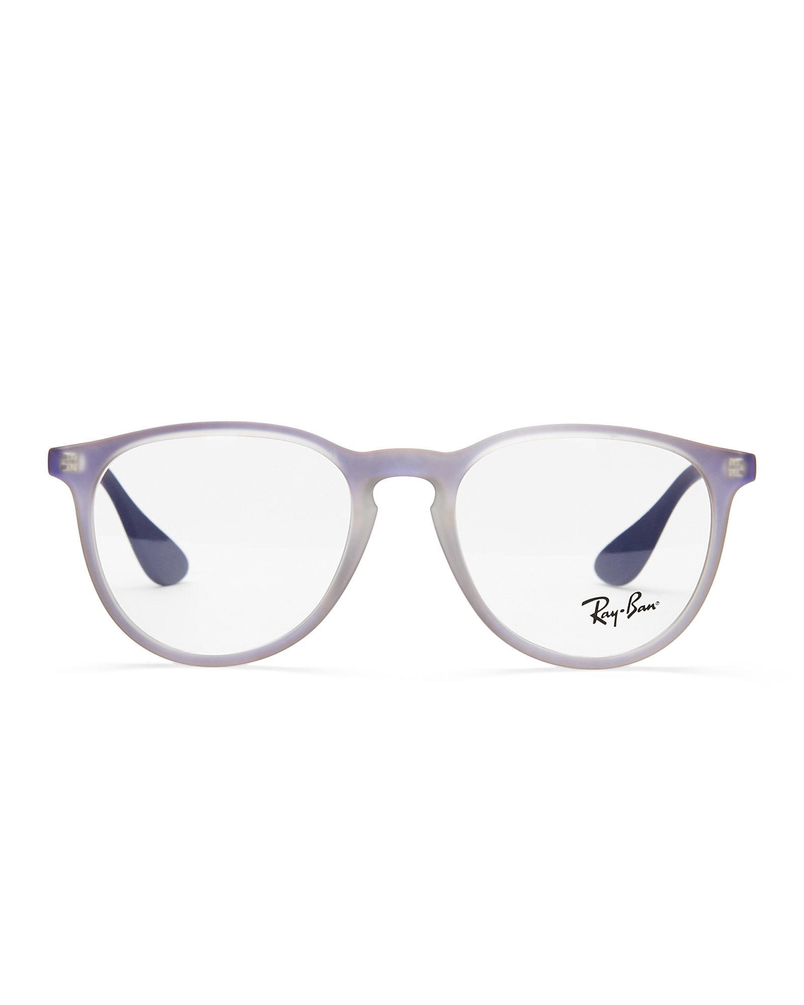 Lyst - Ray-Ban Rb7046 Purple Round Optical Frames