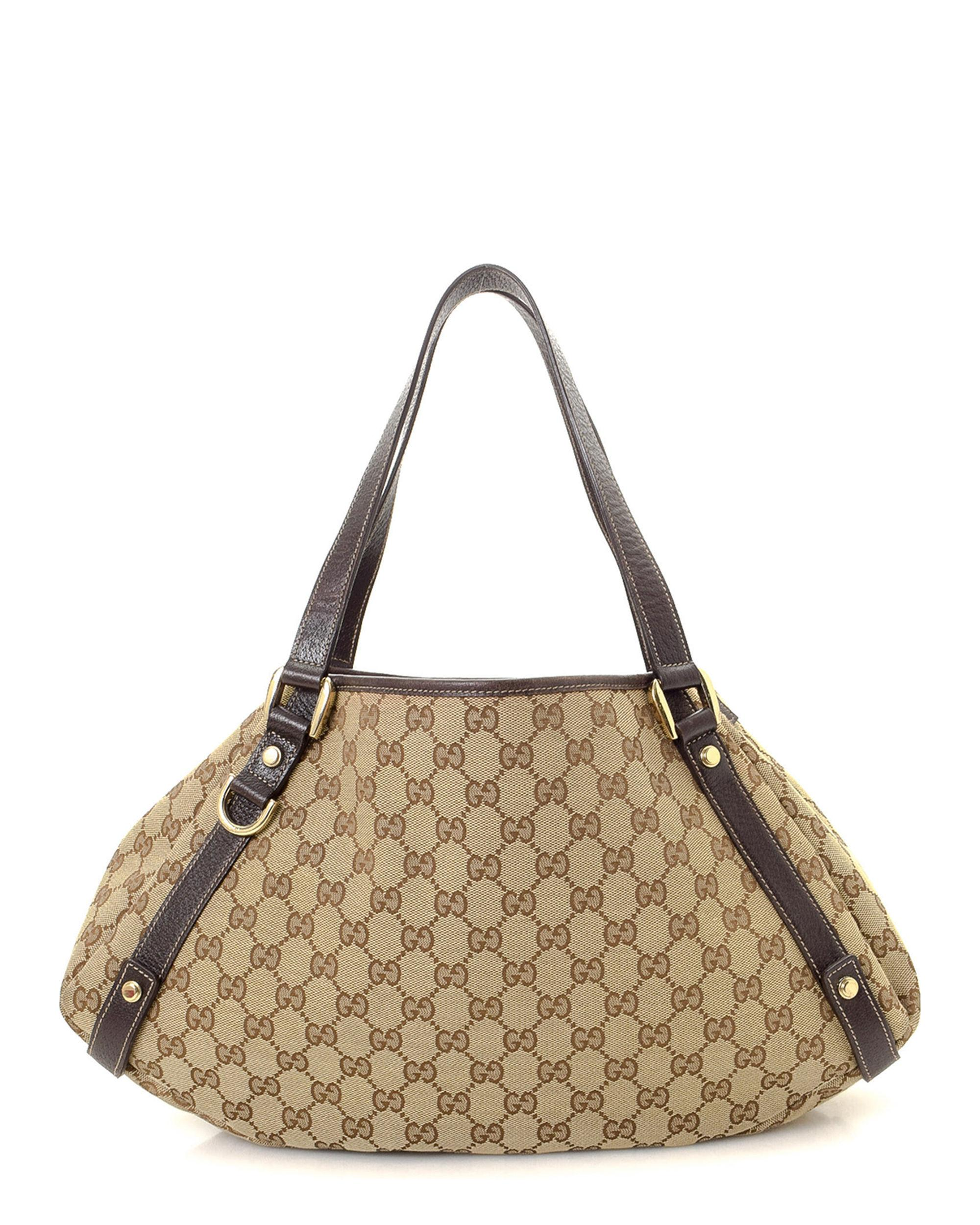 aa6c9ccc4657 Lyst - Gucci GG Canvas Abbey Tote - Vintage in Natural