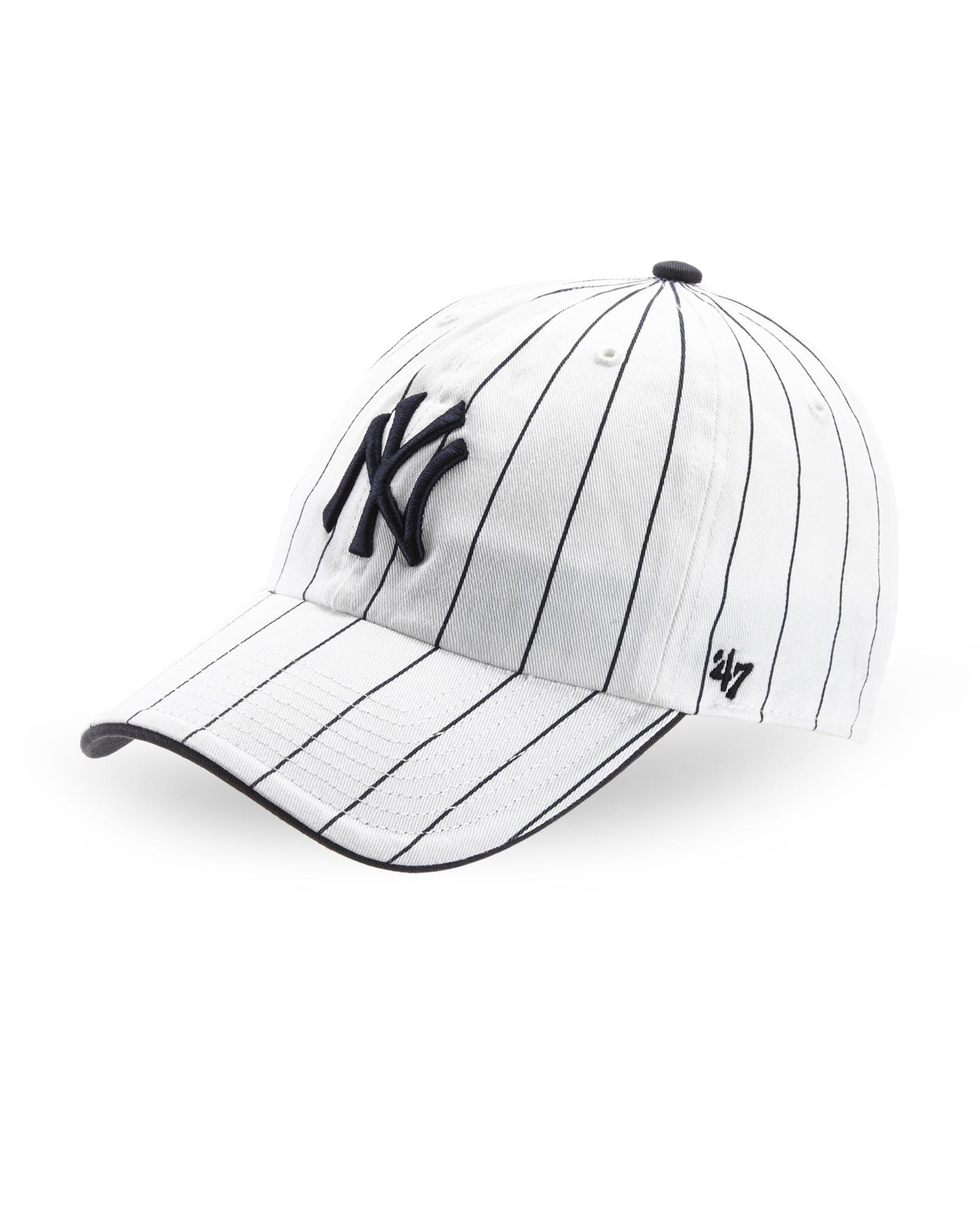 6038538901a Lyst - 47 Brand Pinstripe Ny Yankees Baseball Cap in White