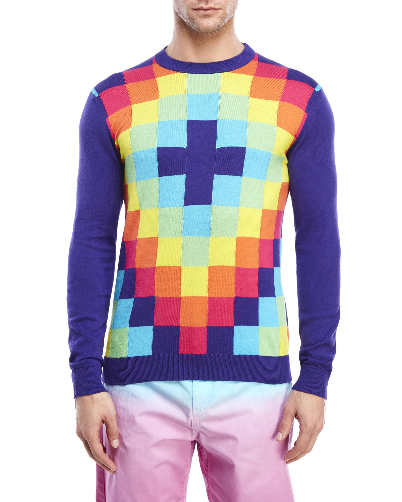 Century 21 multicolor check sweater in multicolor for men for Century 21 dress shirts