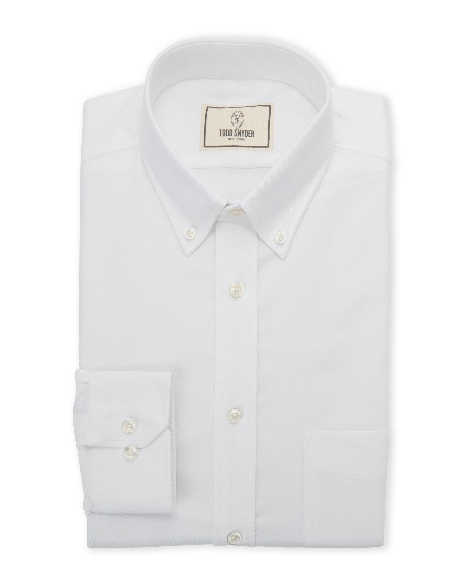 Lyst todd snyder white button down collar dress shirt in for White button down collar shirt