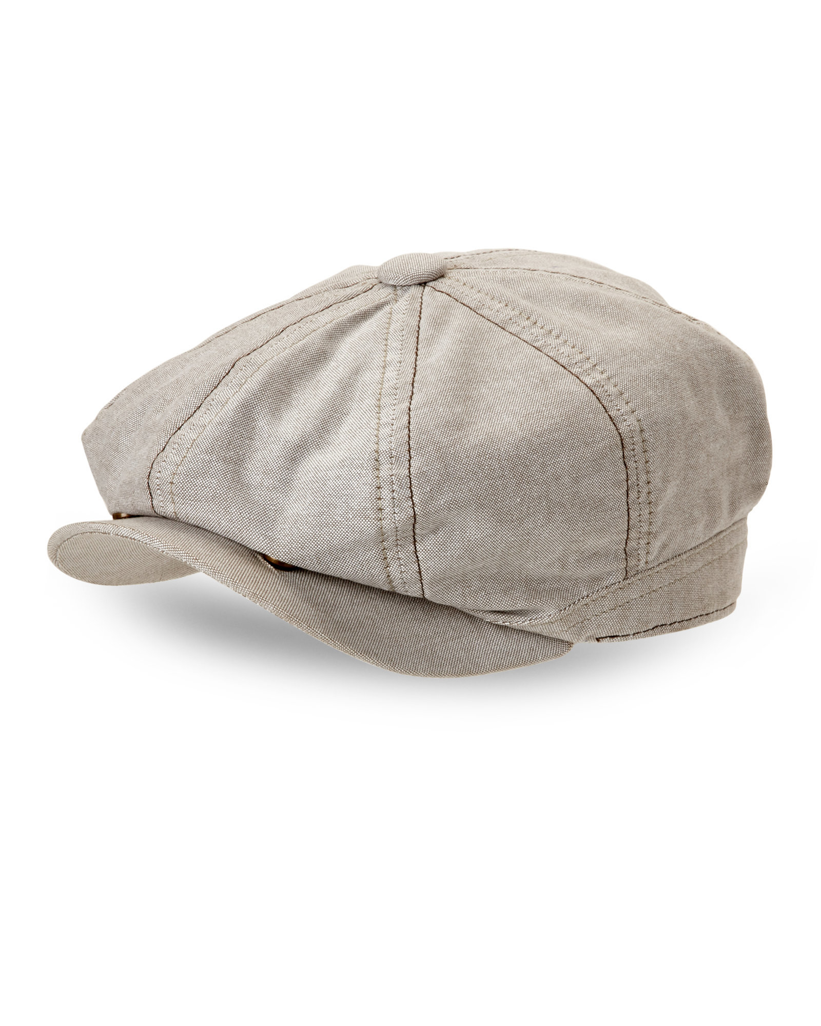 9795a8ed0eb Lyst - Stetson Khaki Newsboy Cap in Natural for Men