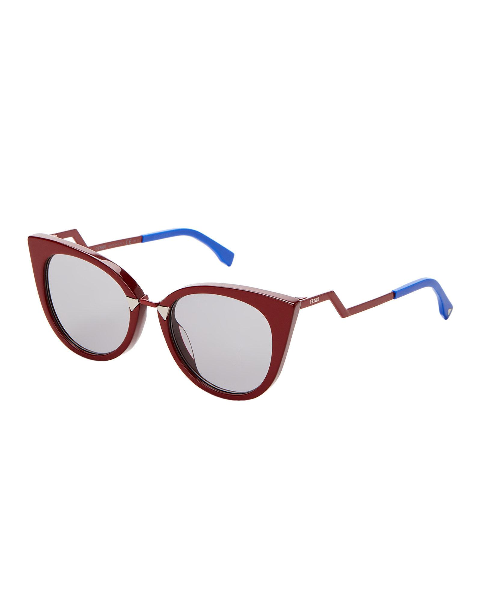 288ba29fd7ba Source · Lyst Fendi Ff 0118 s Red Cat Eye Sunglasses in Red