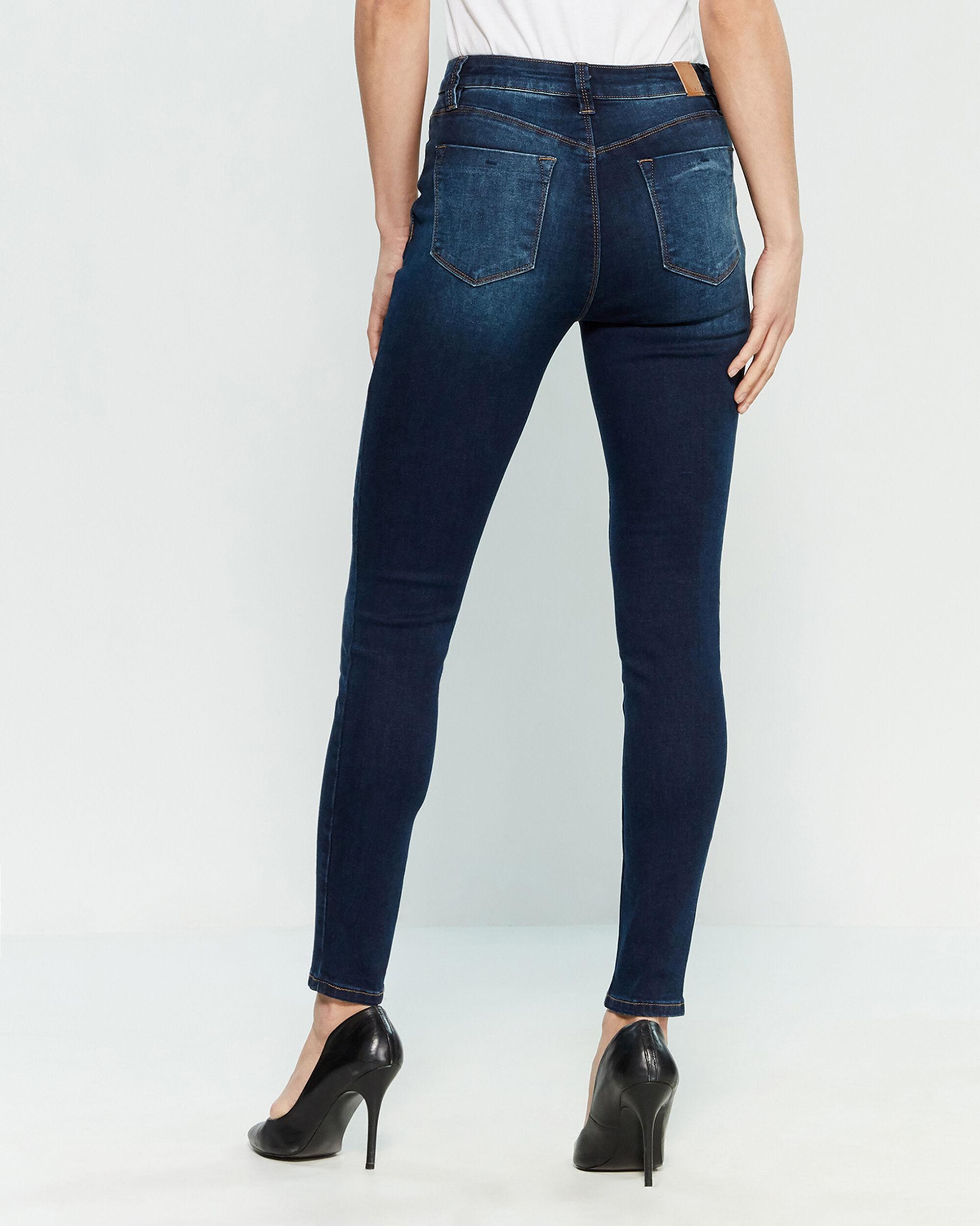 add1f150a7 YMI Dark Wash High-rise Skinny Jeans in Blue - Lyst