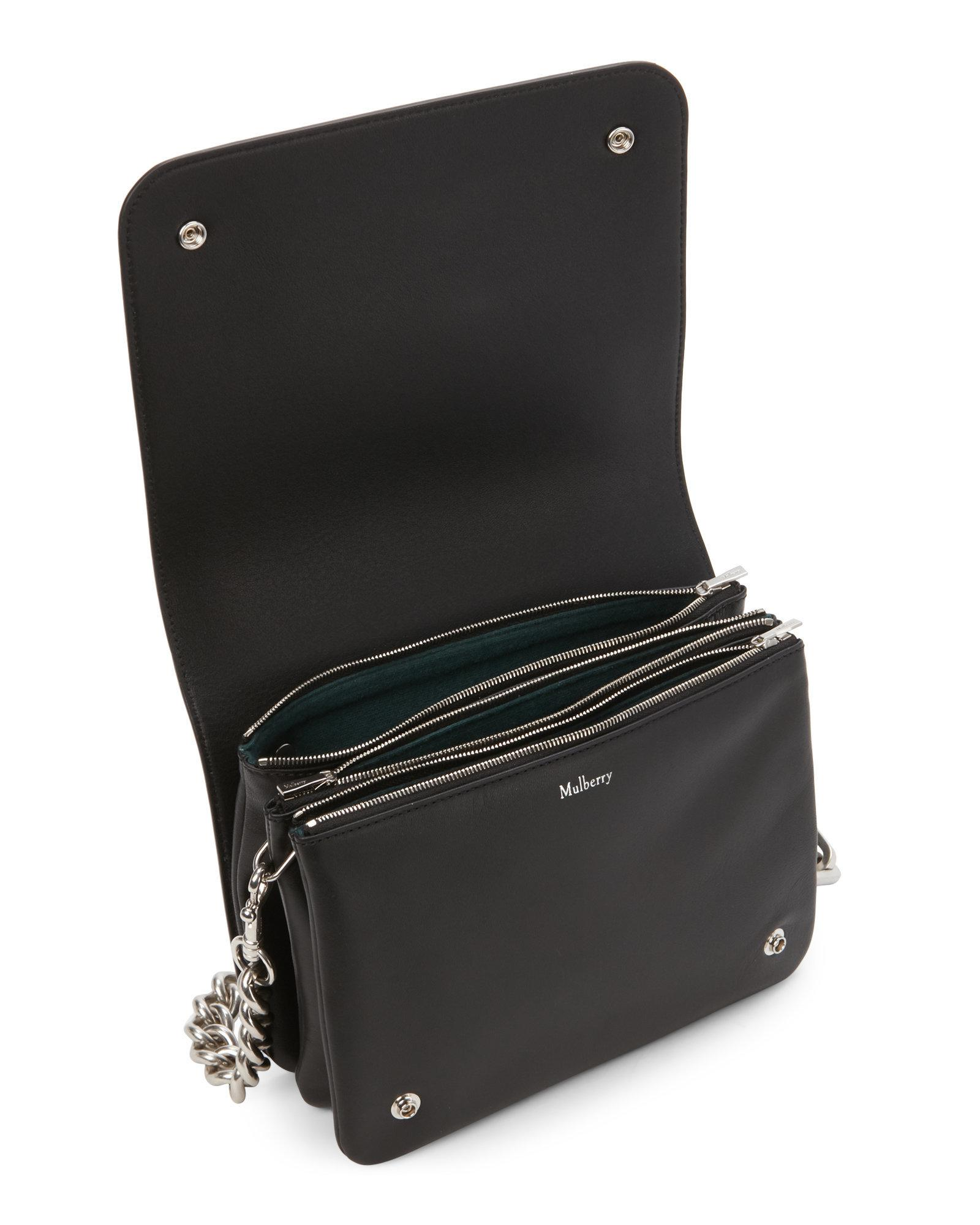 fbac73a863 ... sale lyst mulberry clifton leather shoulder bag in black f929b 58a97