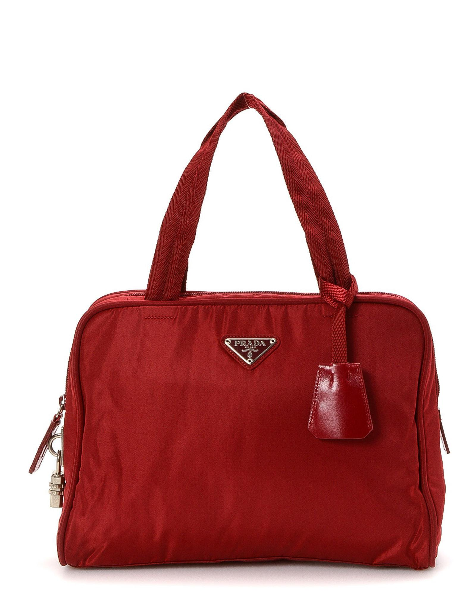 1614f76e3fe ... denmark lyst prada shoulder bag vintage in red 0678b 341c7