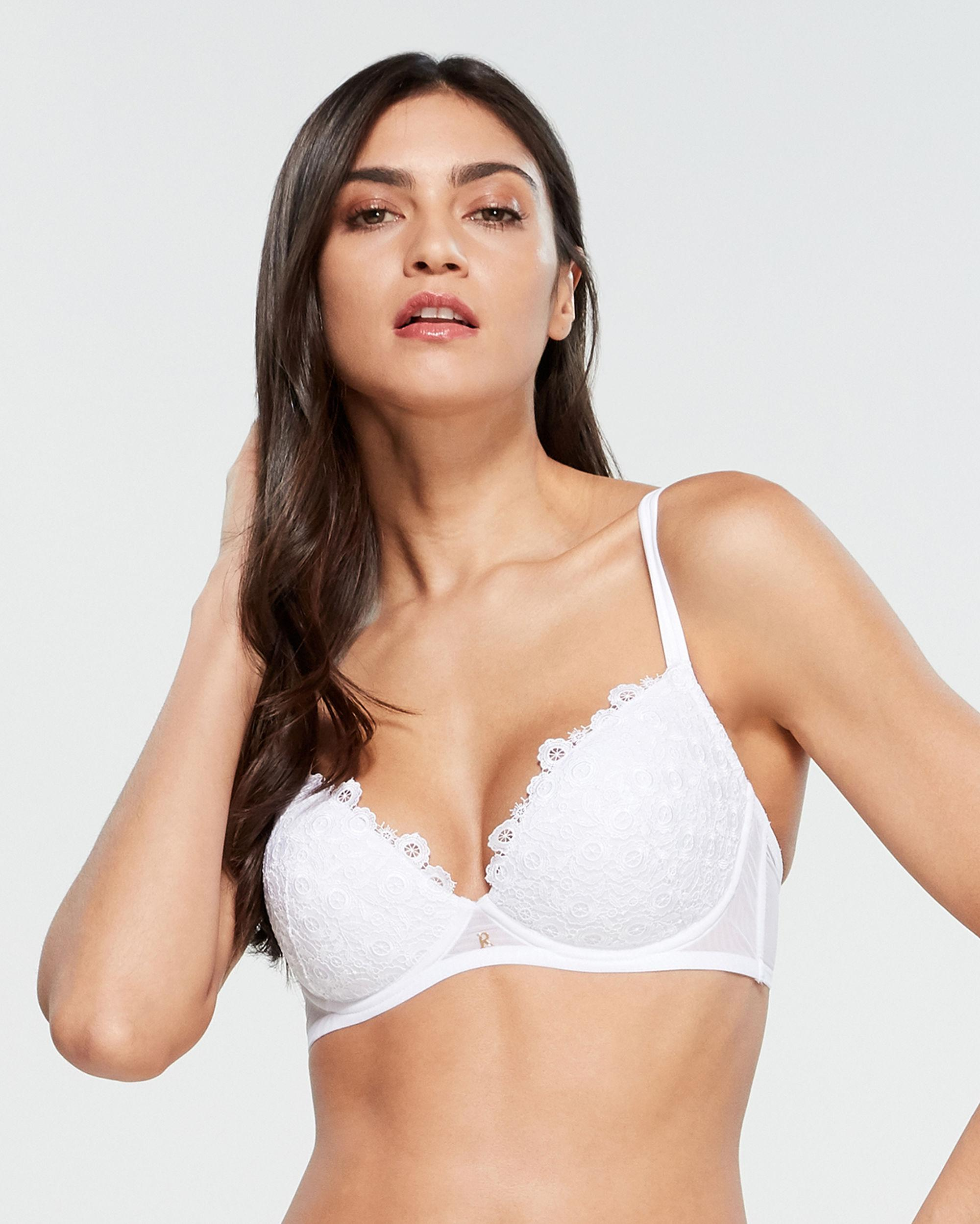 954ac8d6b0b Lyst - Ritratti Macrame Push-up Bra in White