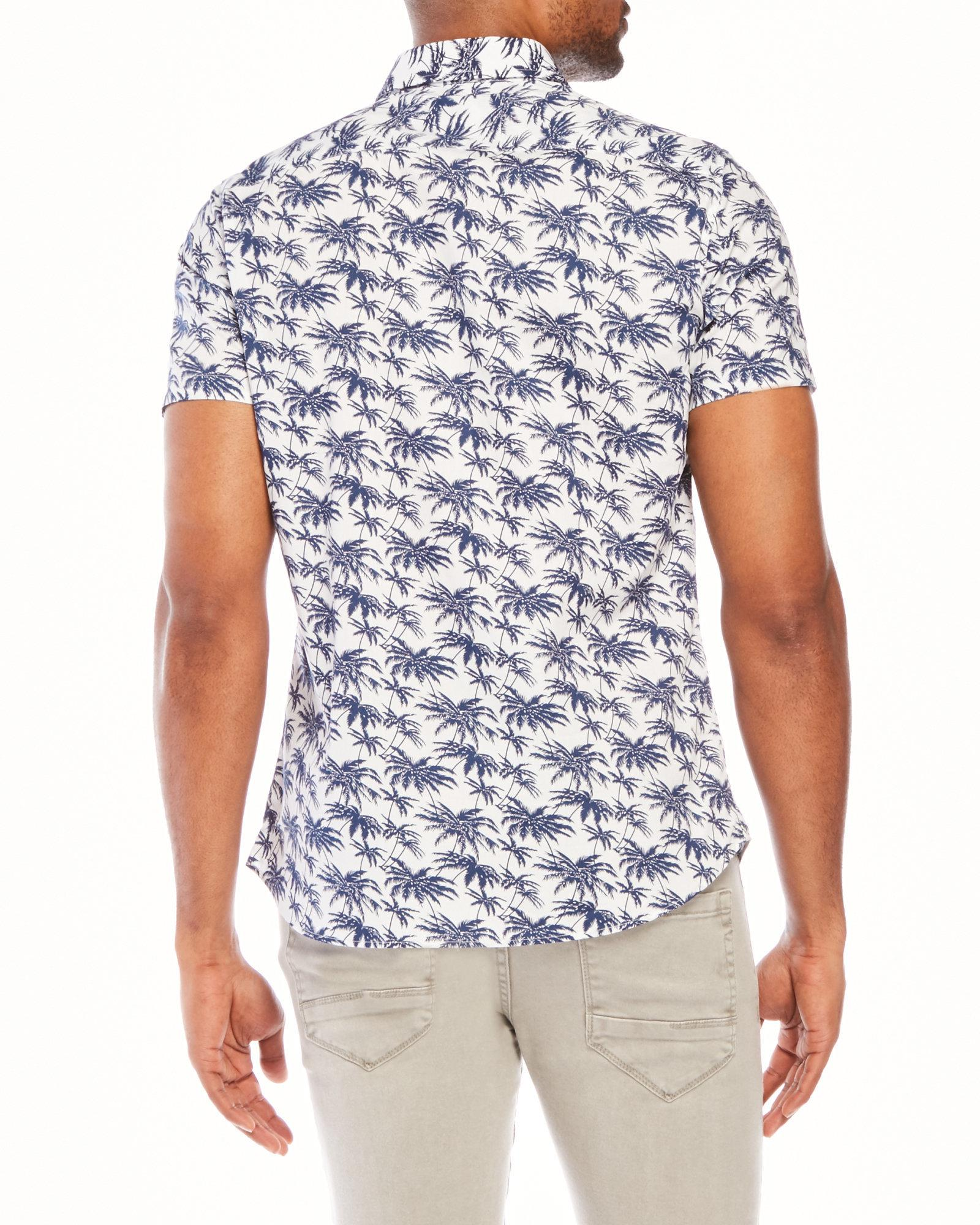 Slate And Stone Clothing : Lyst slate stone bates hawaiian shirt in white for men