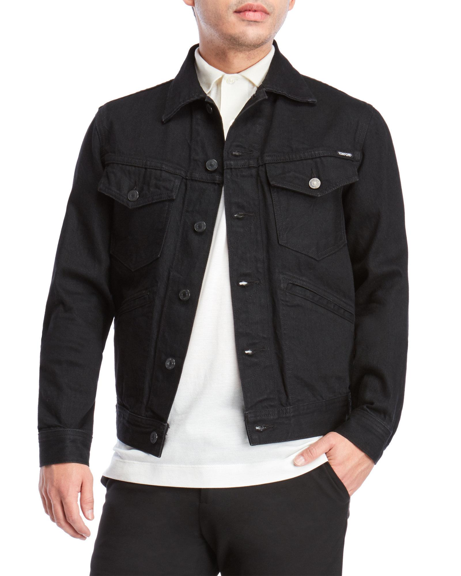 Tom Lyst Ford Jacket For Men In Black Denim THwvqdH