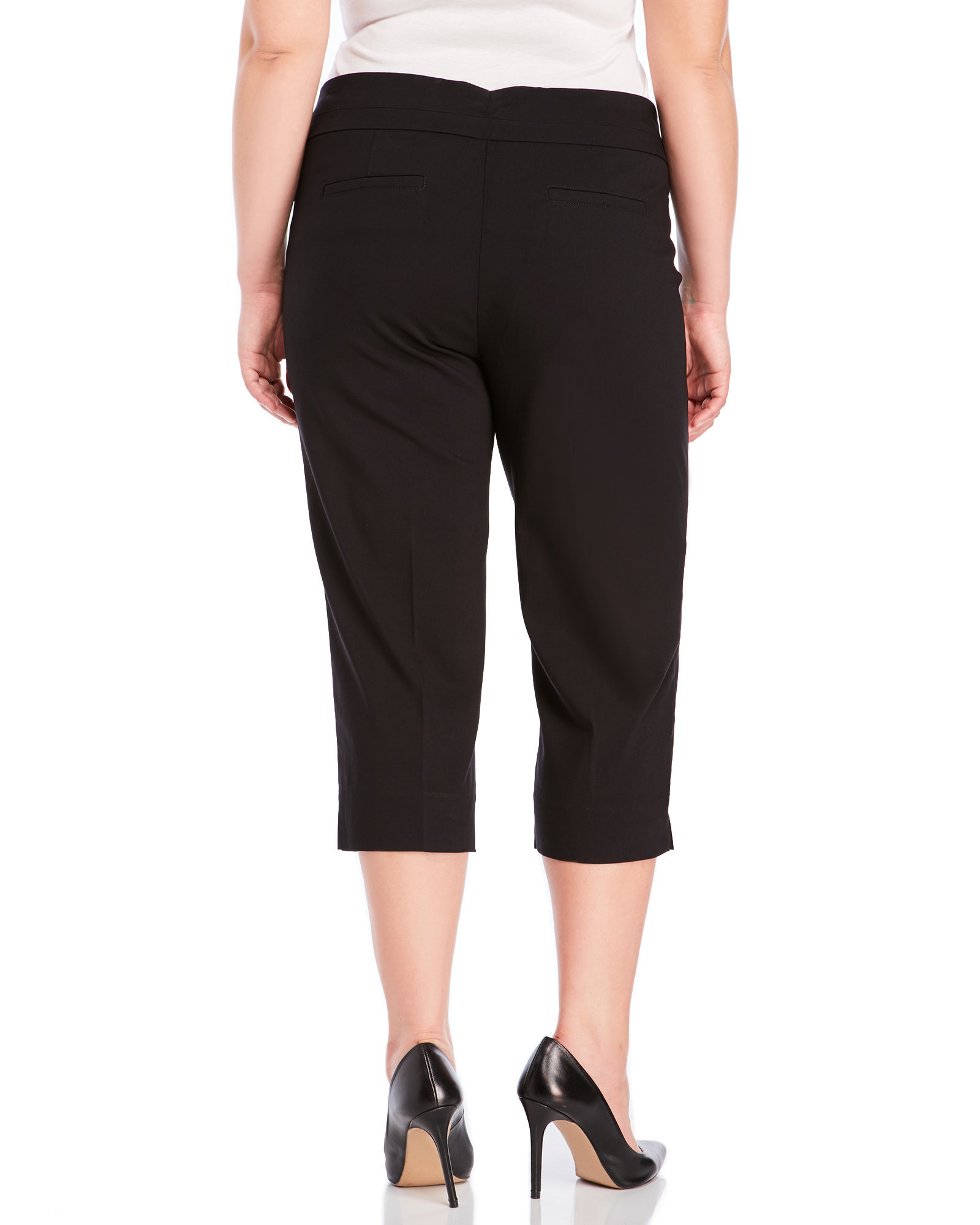 64f5470ec9b91 Lyst - Zac   Rachel Plus Size Stretch Crop Pants in Black