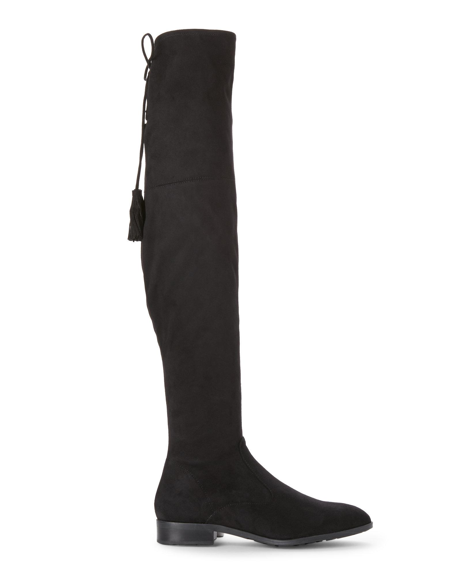 b440b165894 Lyst - Marc Fisher Black Olympia Over The Knee Boots in Black