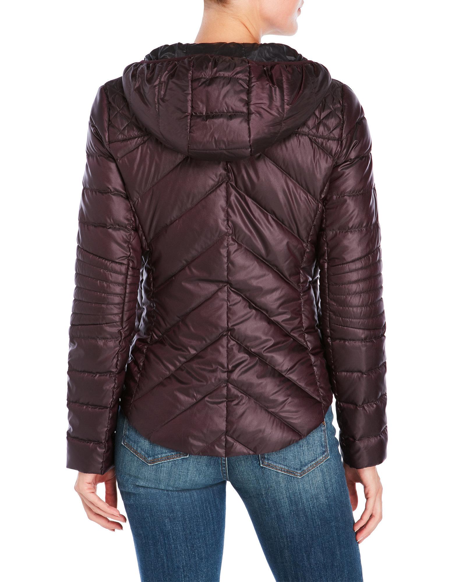 Bcbgeneration Hooded Ultra Lightweight Packable Down Coat