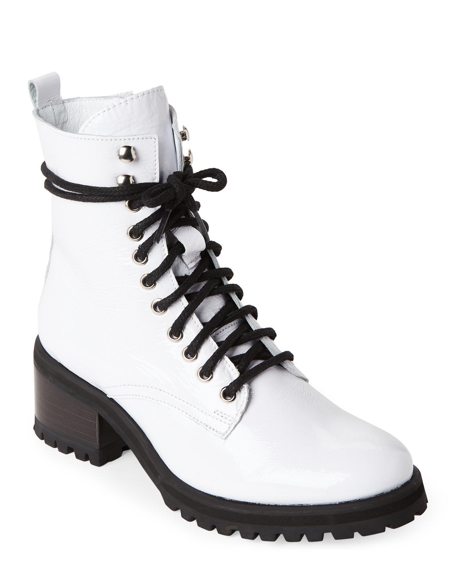 0460bccda3b Lyst - Steve Madden White Geneva Combat Boots in White for Men