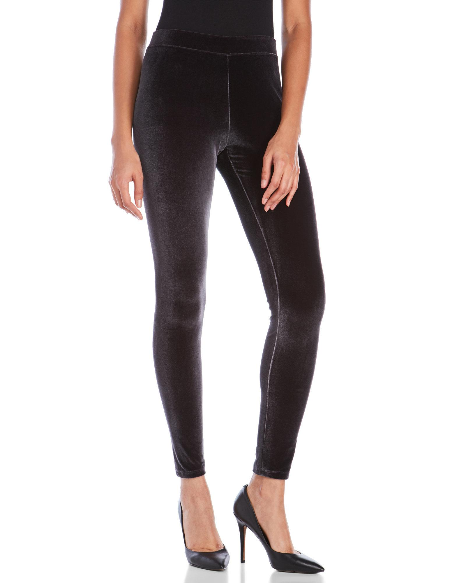 fde4b24861c82 Hue Velvet Leggings in Black - Lyst