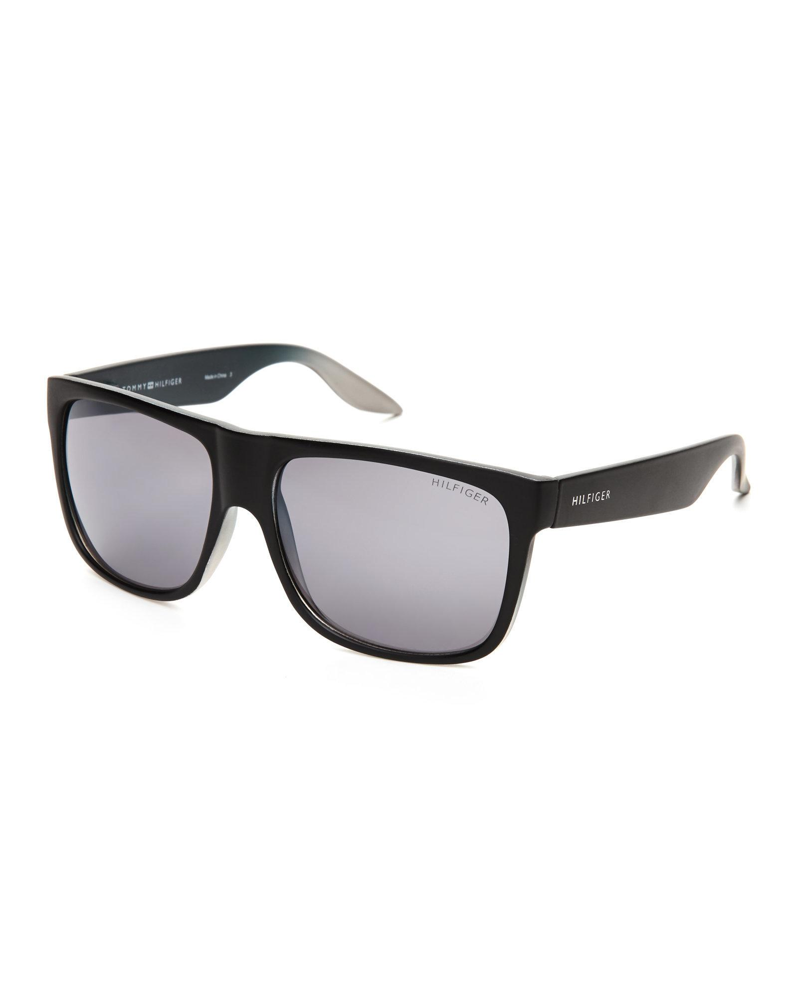Tommy Hilfiger. Men's Black Tanner Wayfarer Sunglasses