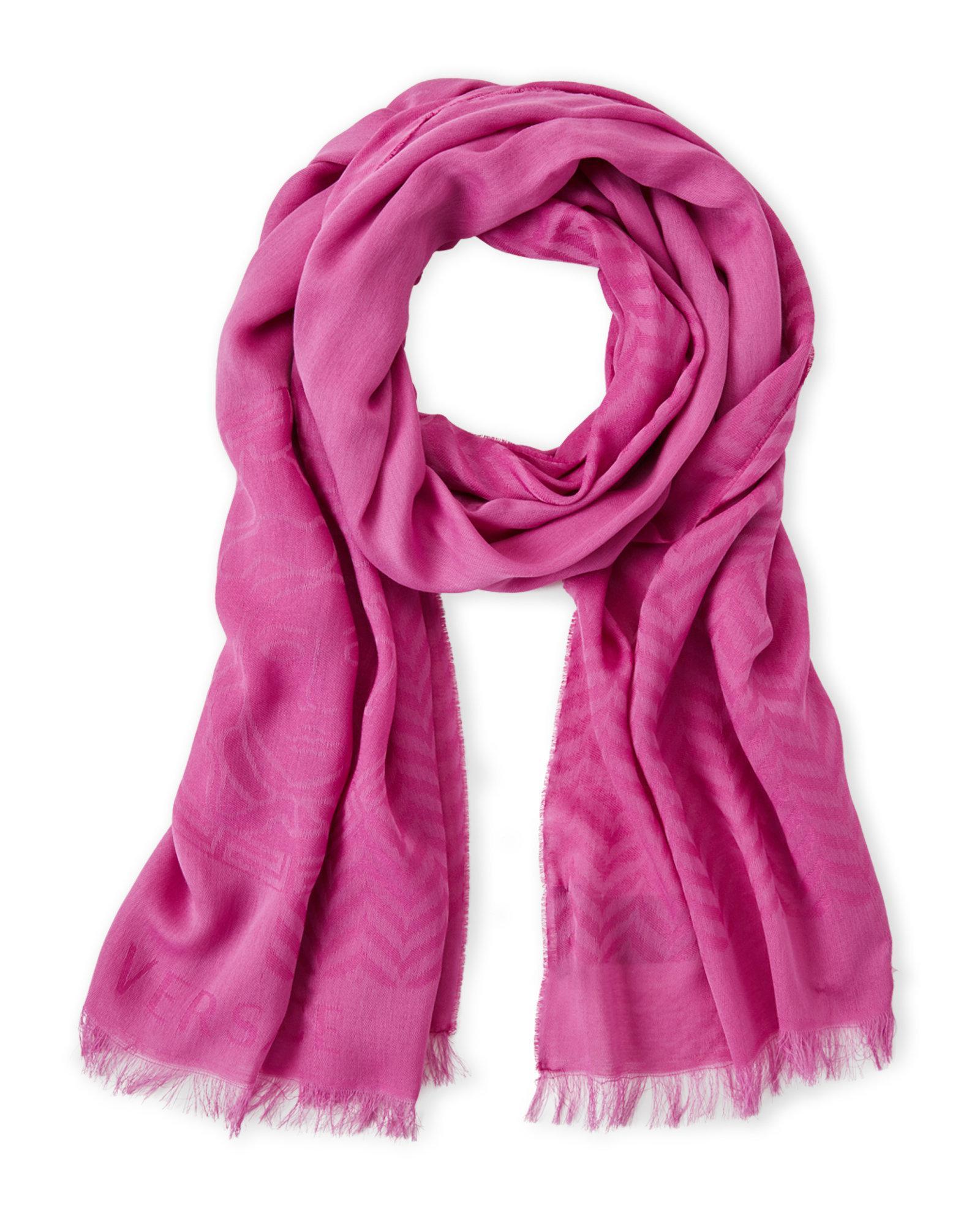 embroidered Medusa logo shawl - Pink & Purple Versace 5TKRO3Hj
