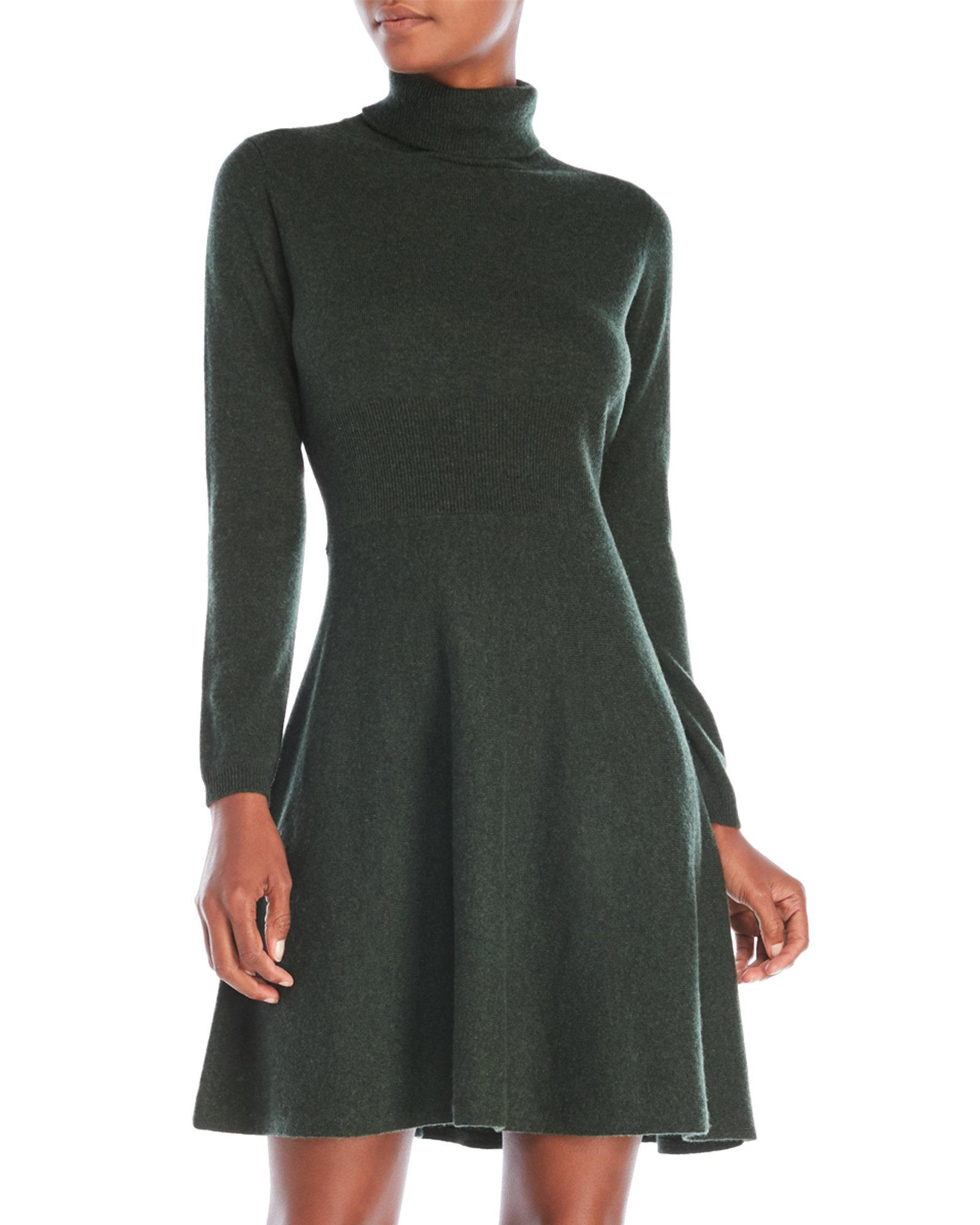 b82fabcd2ce1 Lyst - Ply Cashmere Petite Turtleneck Sweater Dress in Green