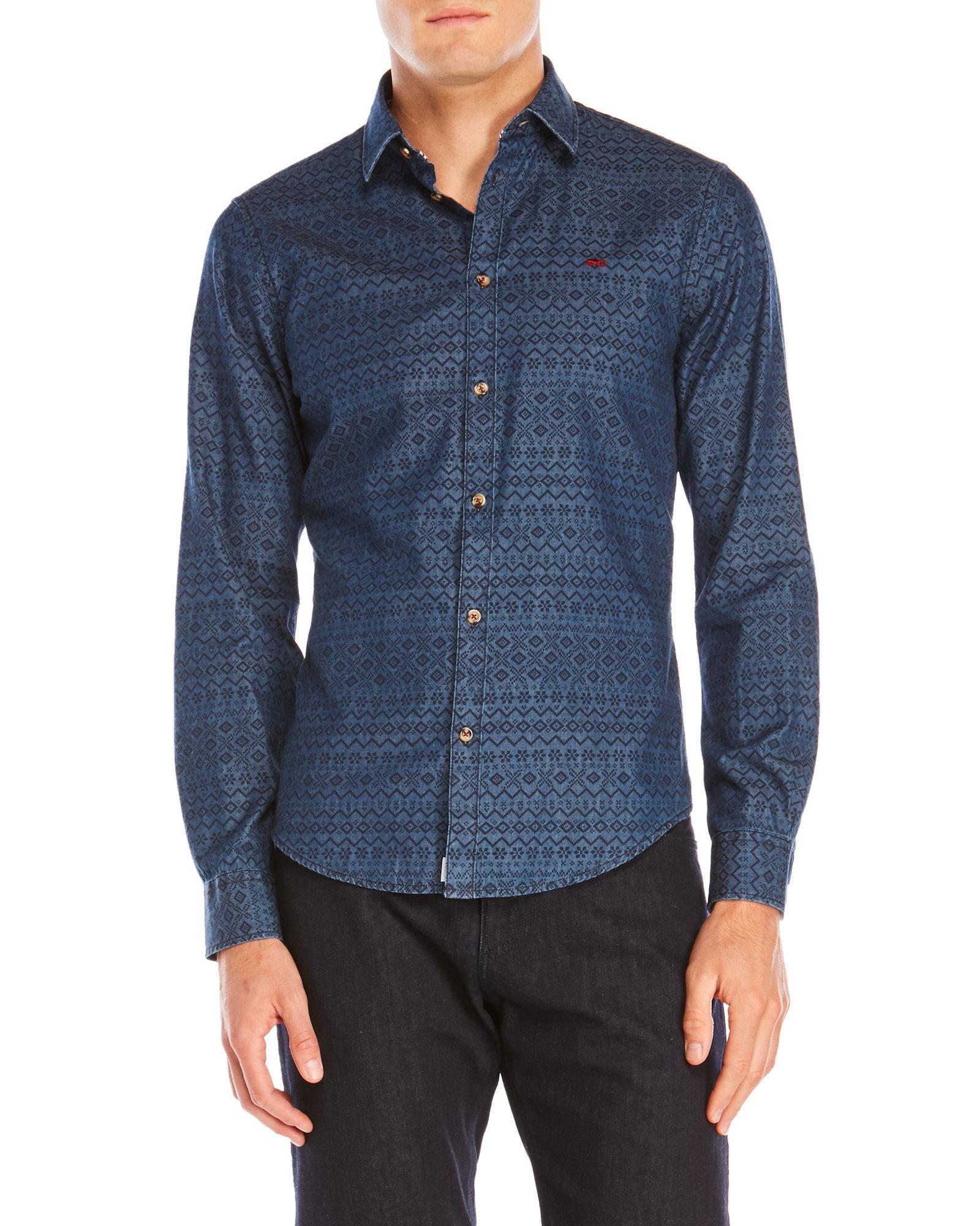 756257cd6af Lyst - Moods Of Norway Frode Vik Slim Fit Shirt in Blue for Men