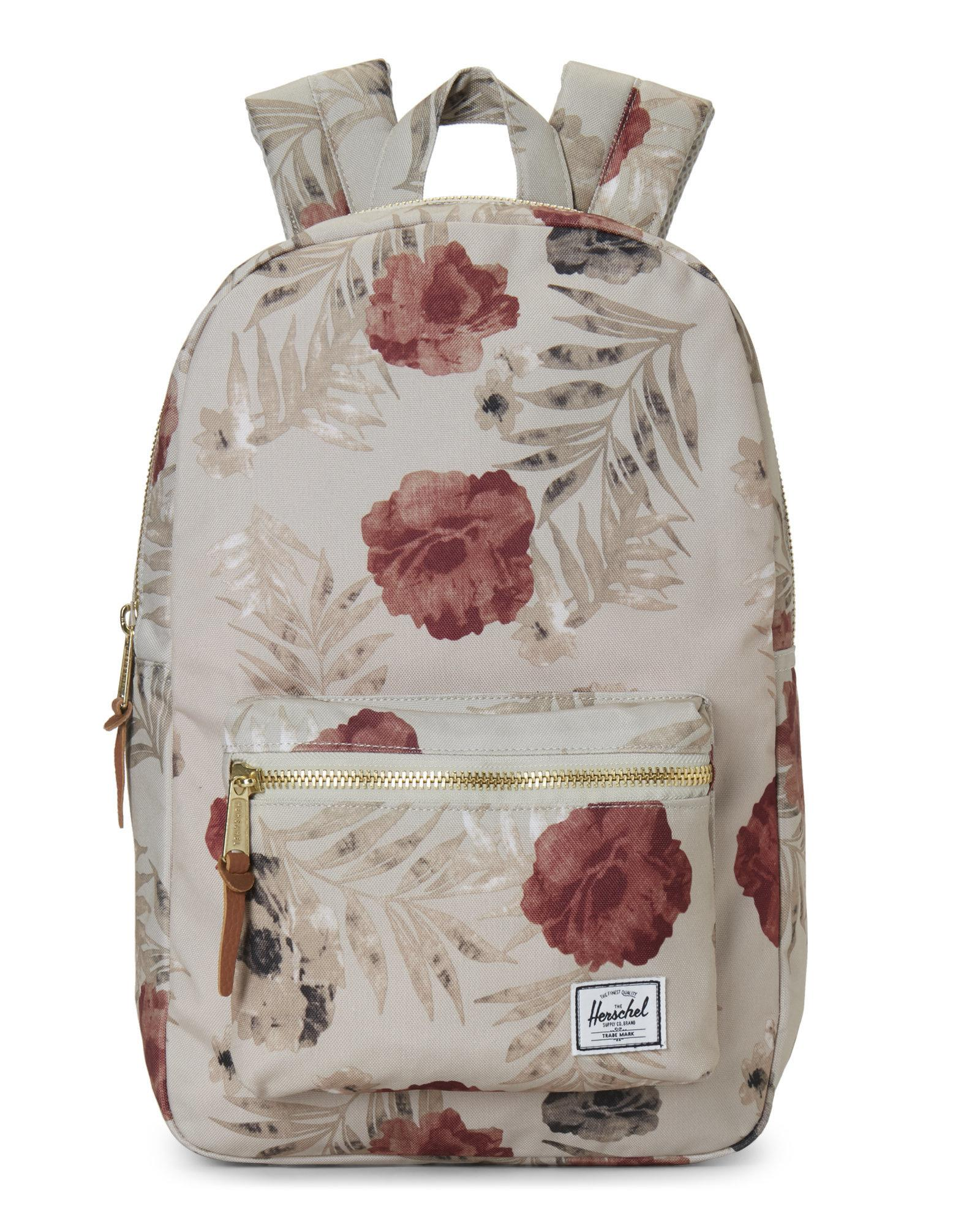 32a2db12ecc Lyst - Herschel Supply Co. Settlement Pelican Floral Tan Backpack in Red