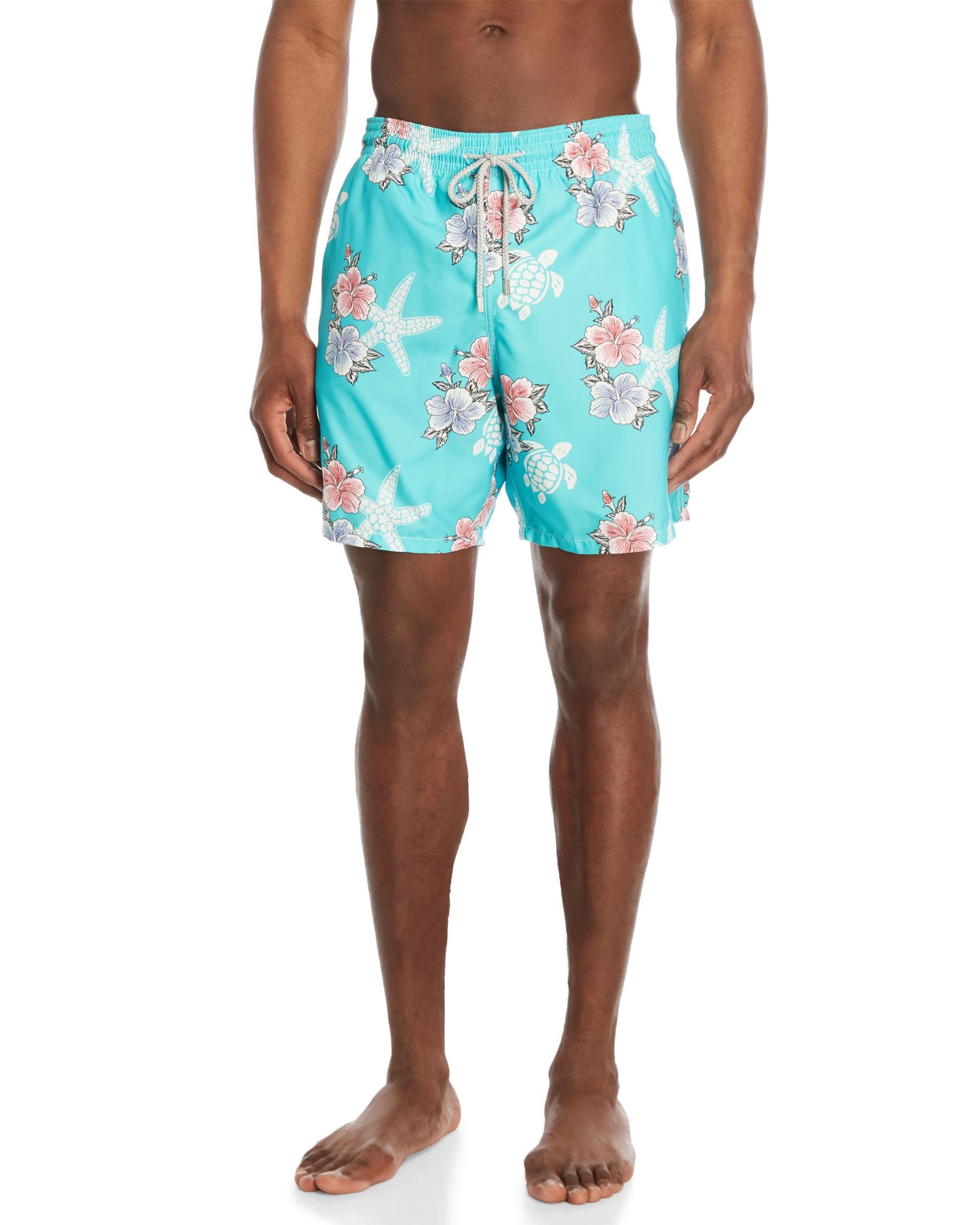 fffe063751 Lyst - Vilebrequin Moorea Le Paradis Print Swim Shorts in Blue for Men