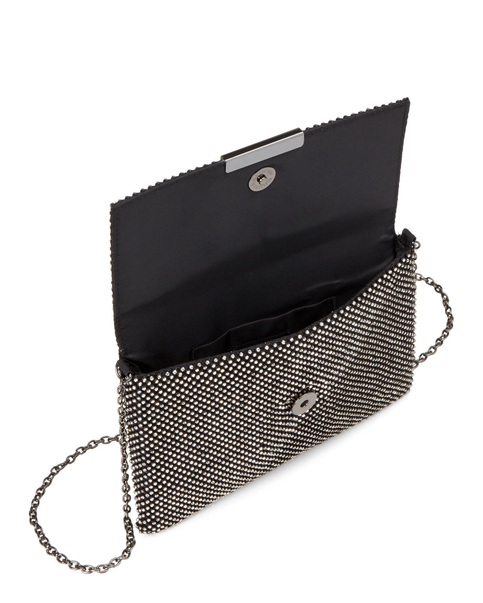 640f24e87731 Lyst - La Regale Black Ball Flap Clutch in Black