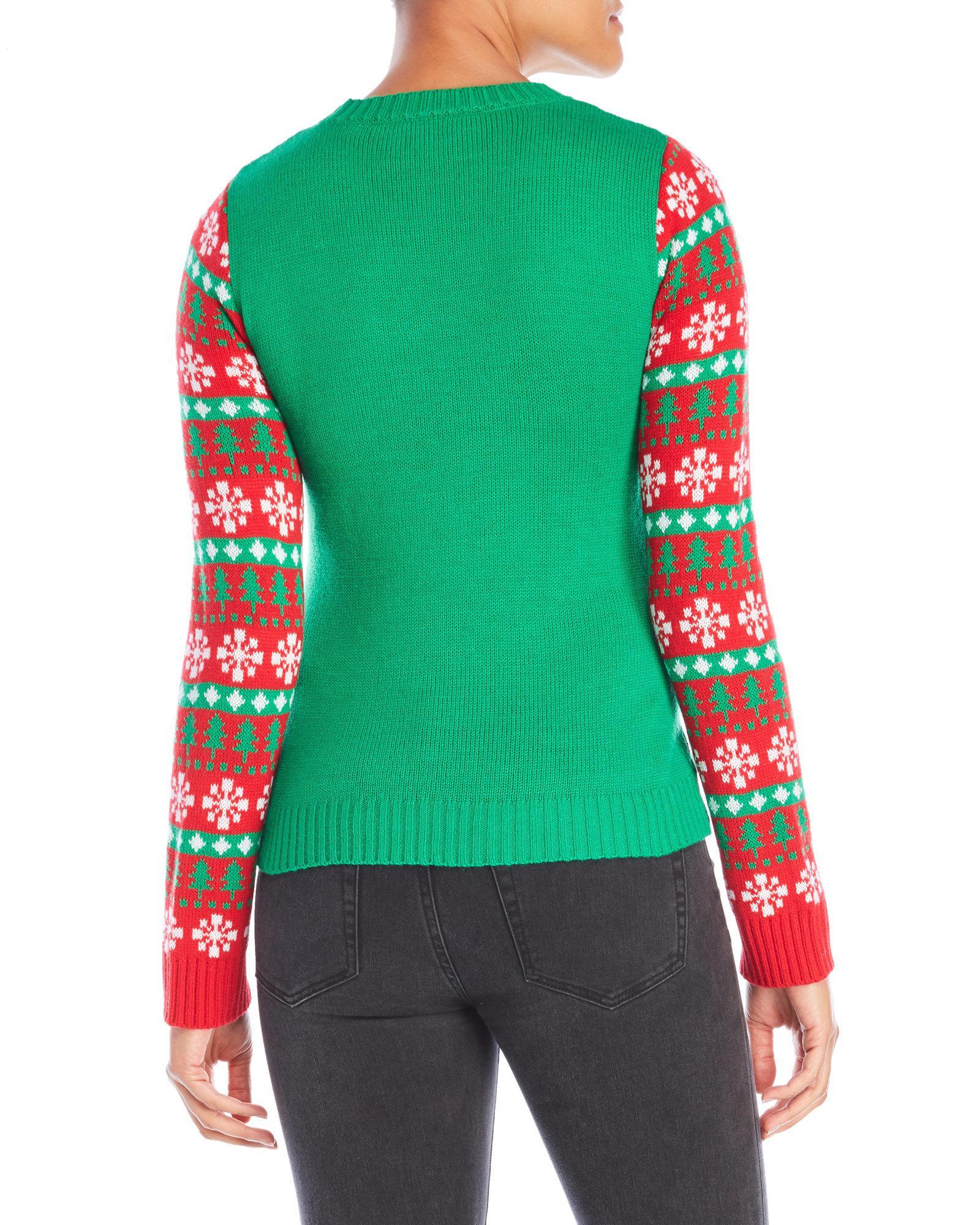 Lyst - Derek Heart Kitten Merry Christmas Sweater in Green
